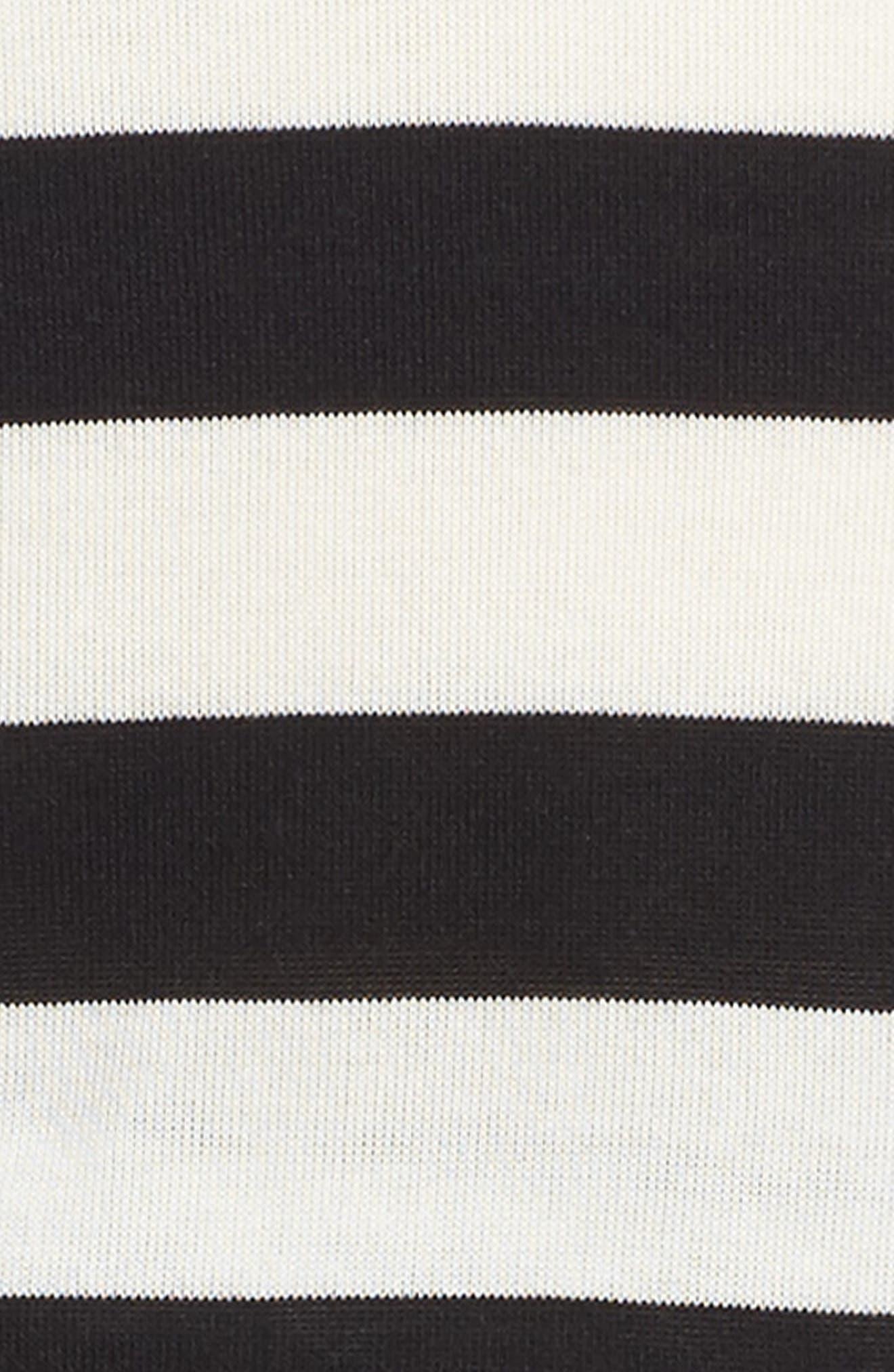 Stripe Dress,                             Alternate thumbnail 3, color,                             Stripe Black