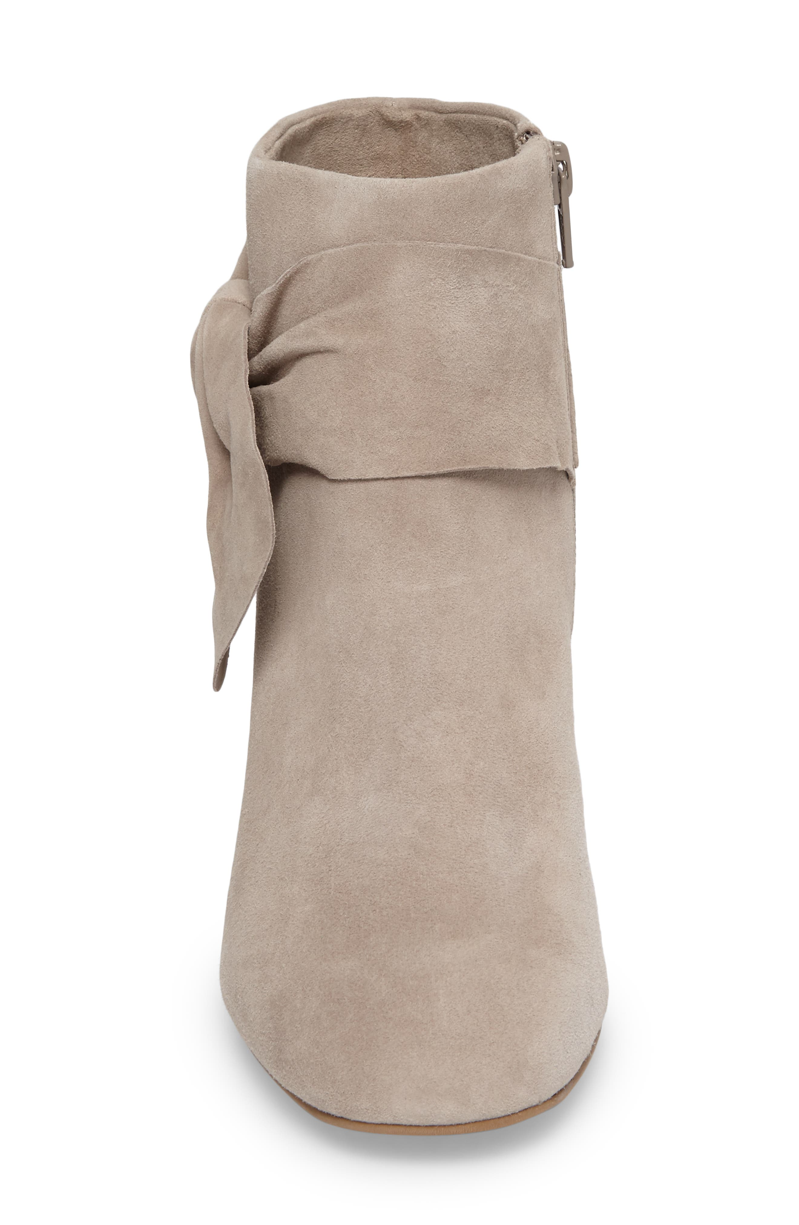 Catwalk Bootie,                             Alternate thumbnail 4, color,                             Taupe Suede