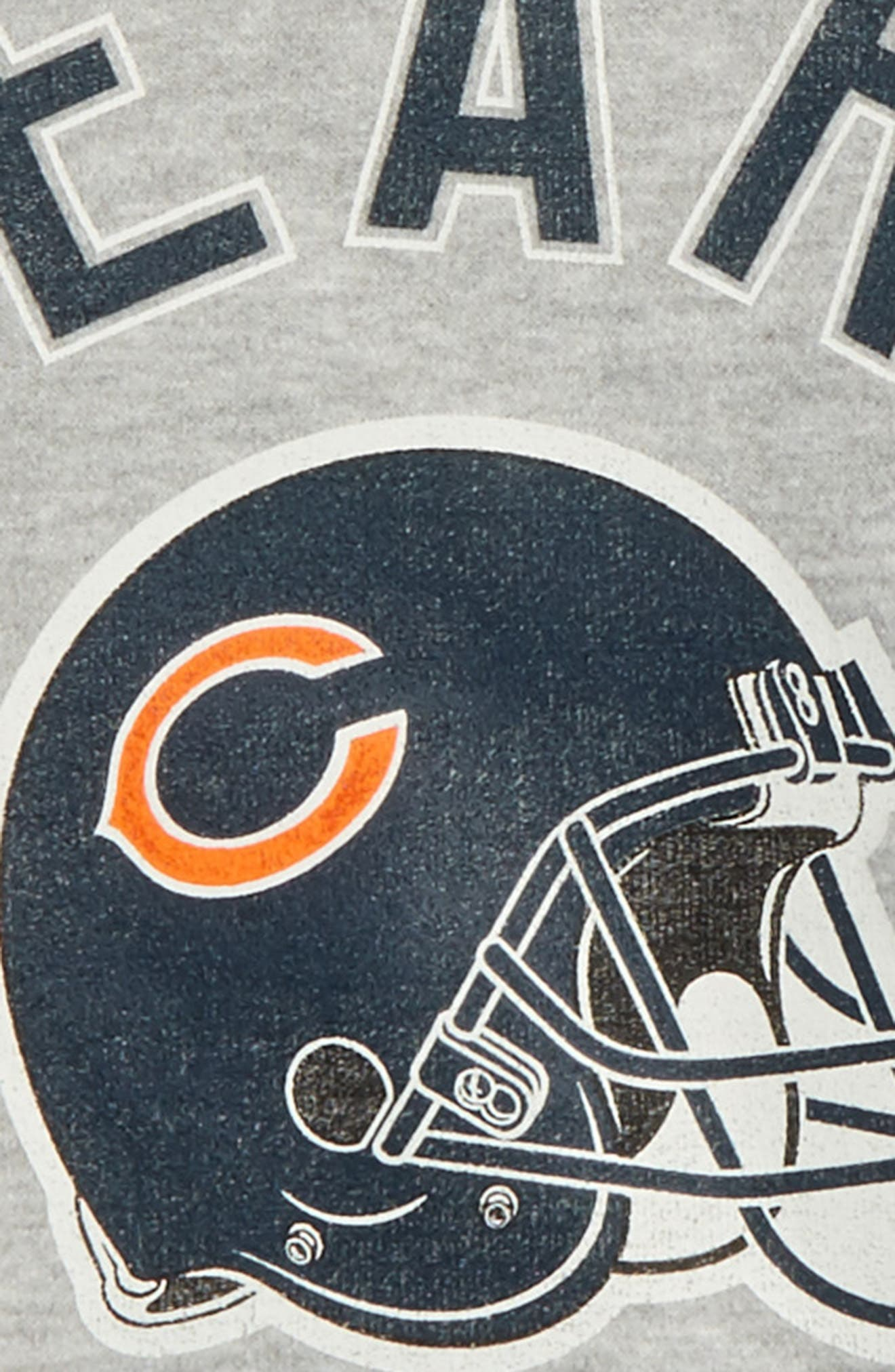 NFL Chicago Bears Pullover Hoodie,                             Alternate thumbnail 2, color,                             Heather Grey