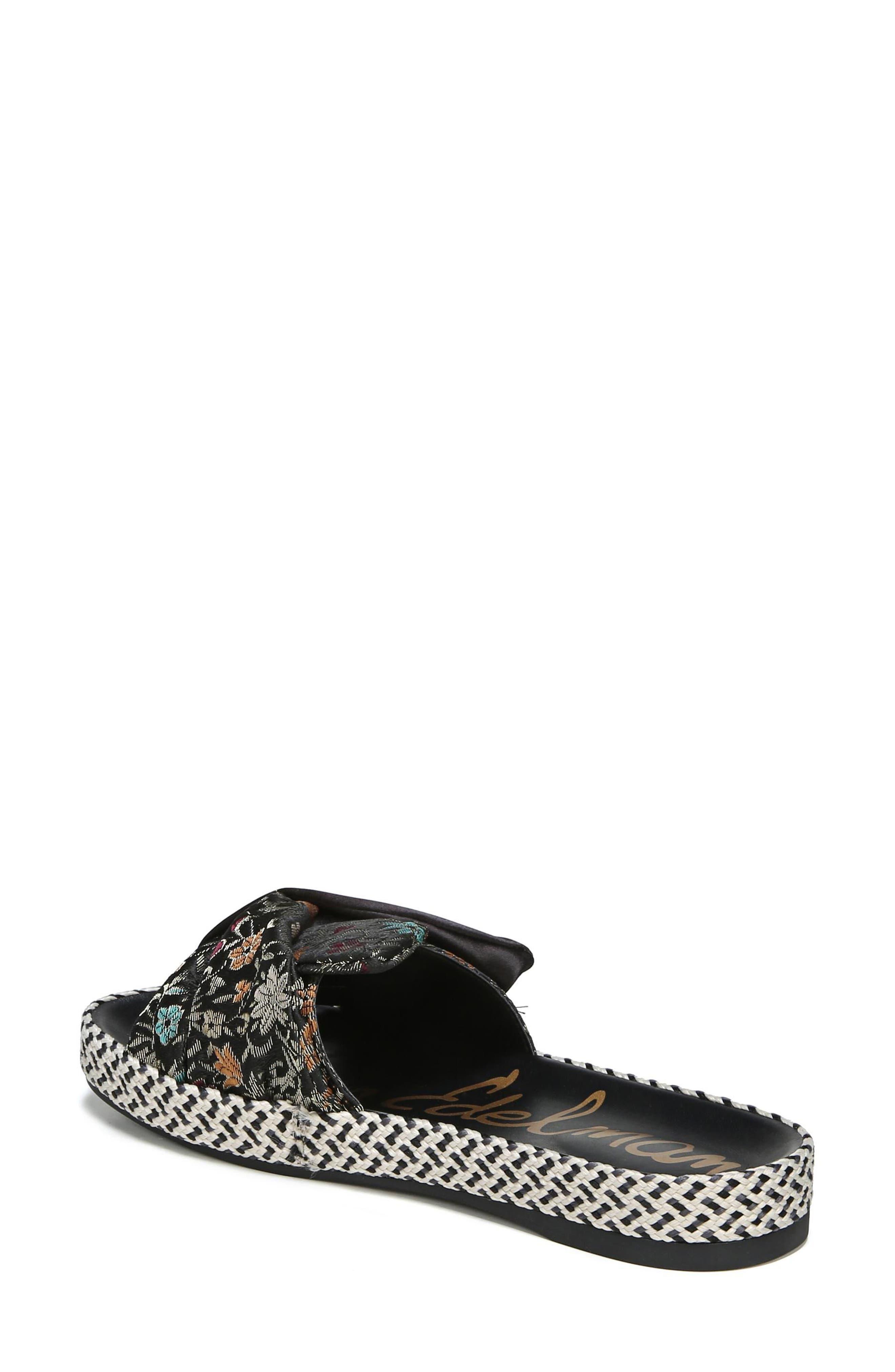 Bodie Slide Sandal,                             Alternate thumbnail 2, color,                             Black Floral Brocade