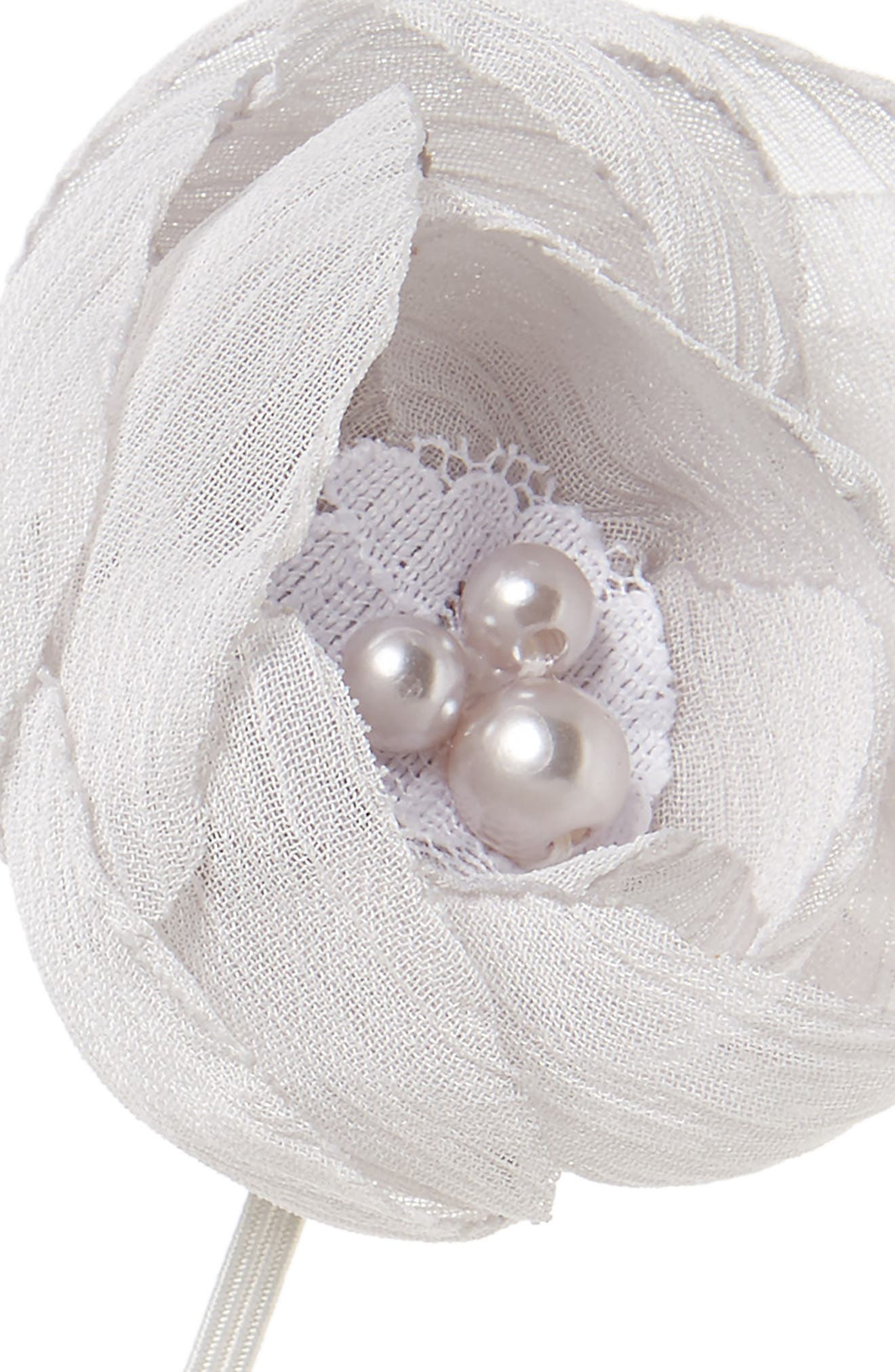 Alternate Image 2  - PLH Bows & Laces Taffeta Flower Head Wrap (Baby Girls)