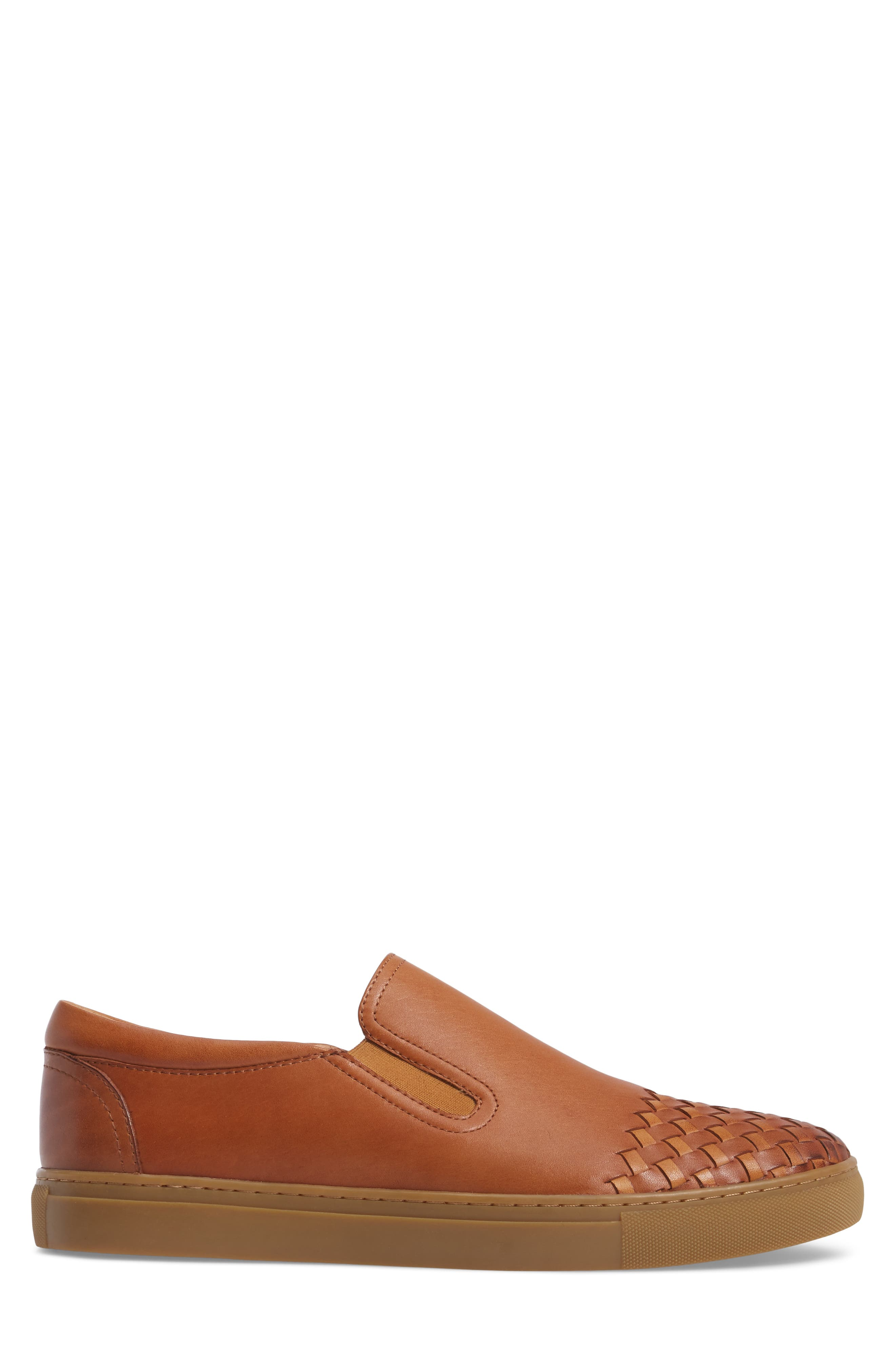Ader Slip-On,                             Alternate thumbnail 3, color,                             Cognac Leather