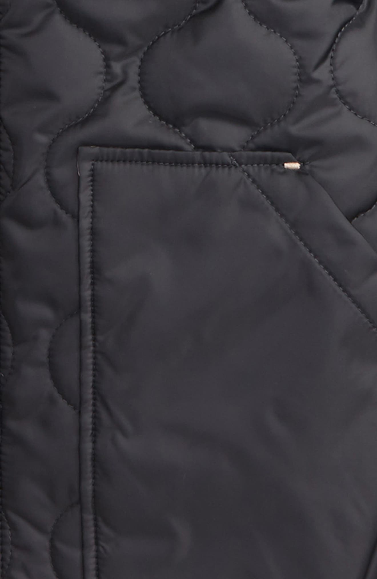 Alternate Image 2  - MICHAEL Michael Kors Quilted Hooded Jacket (Big Girls)