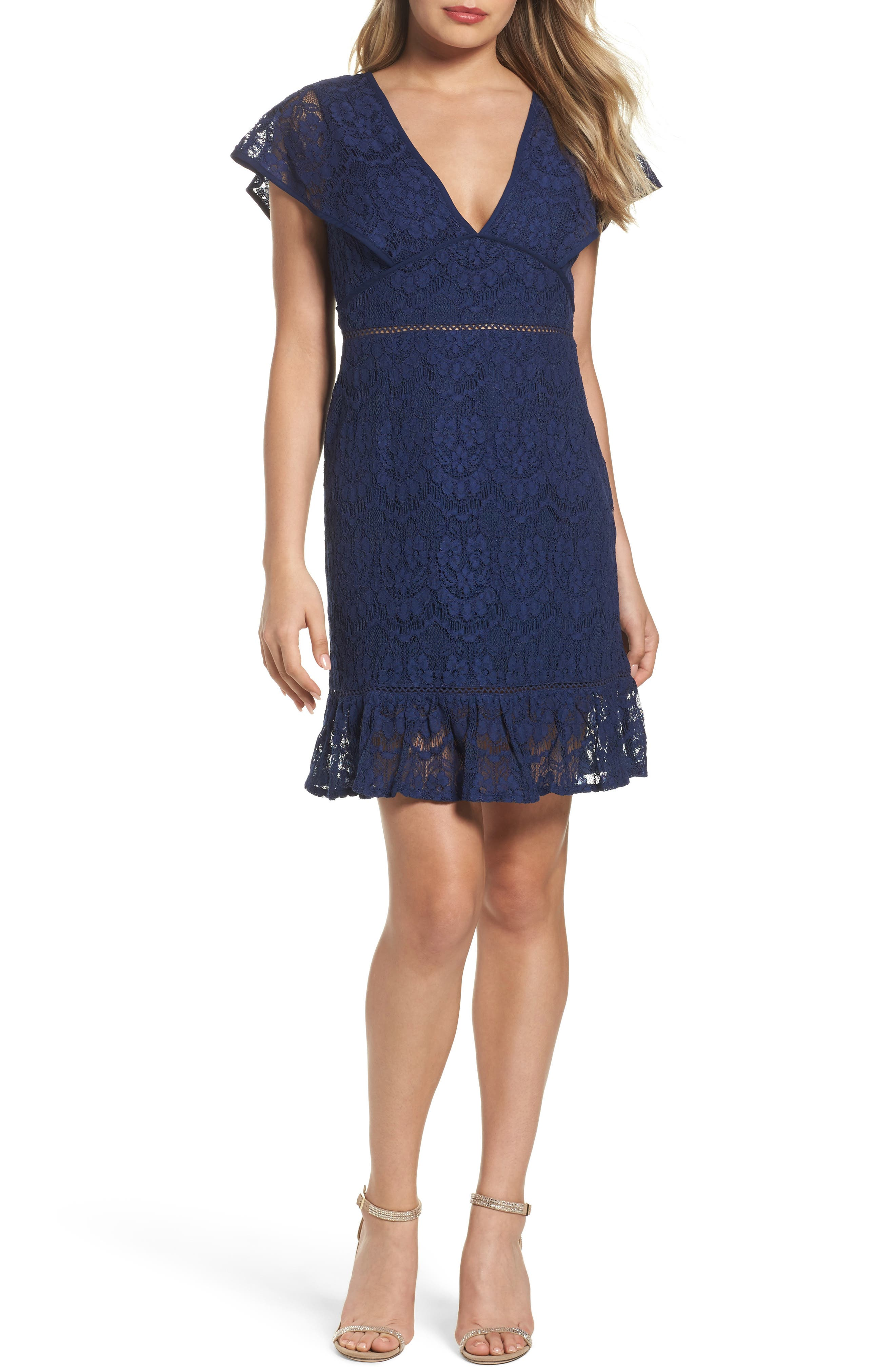 Foxiedox Morganne V-Neck Lace Dress
