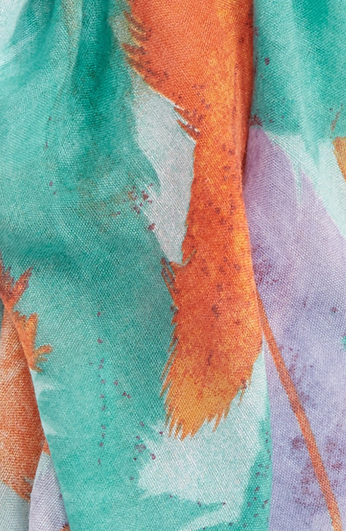 Alternate Image 3  - Accessory Collective Abstract Feather Print Scarf