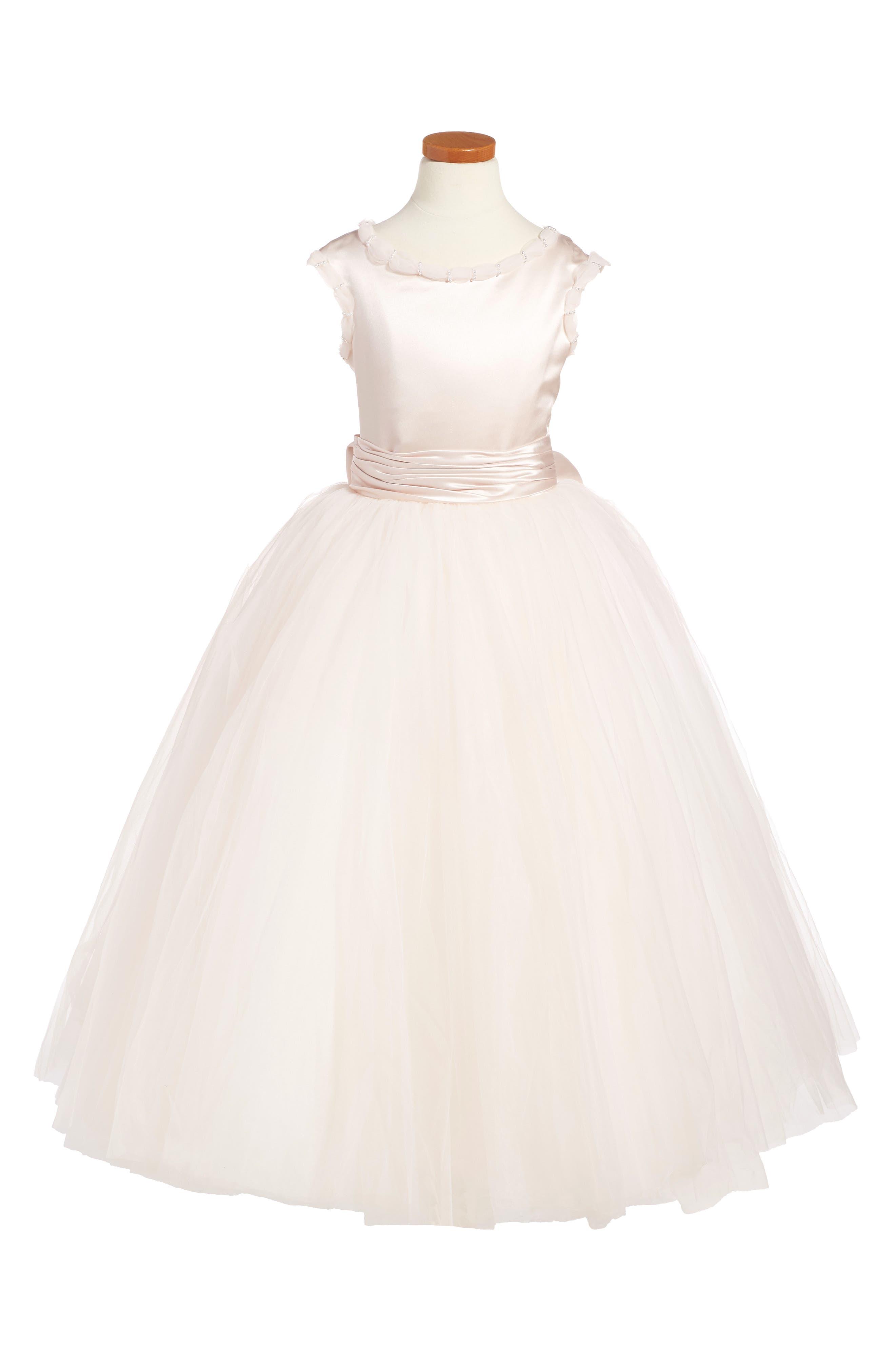 Alternate Image 1 Selected - Joan Calabrese for Mon Cheri Tulle Dress (Little Girls & Big Girls)