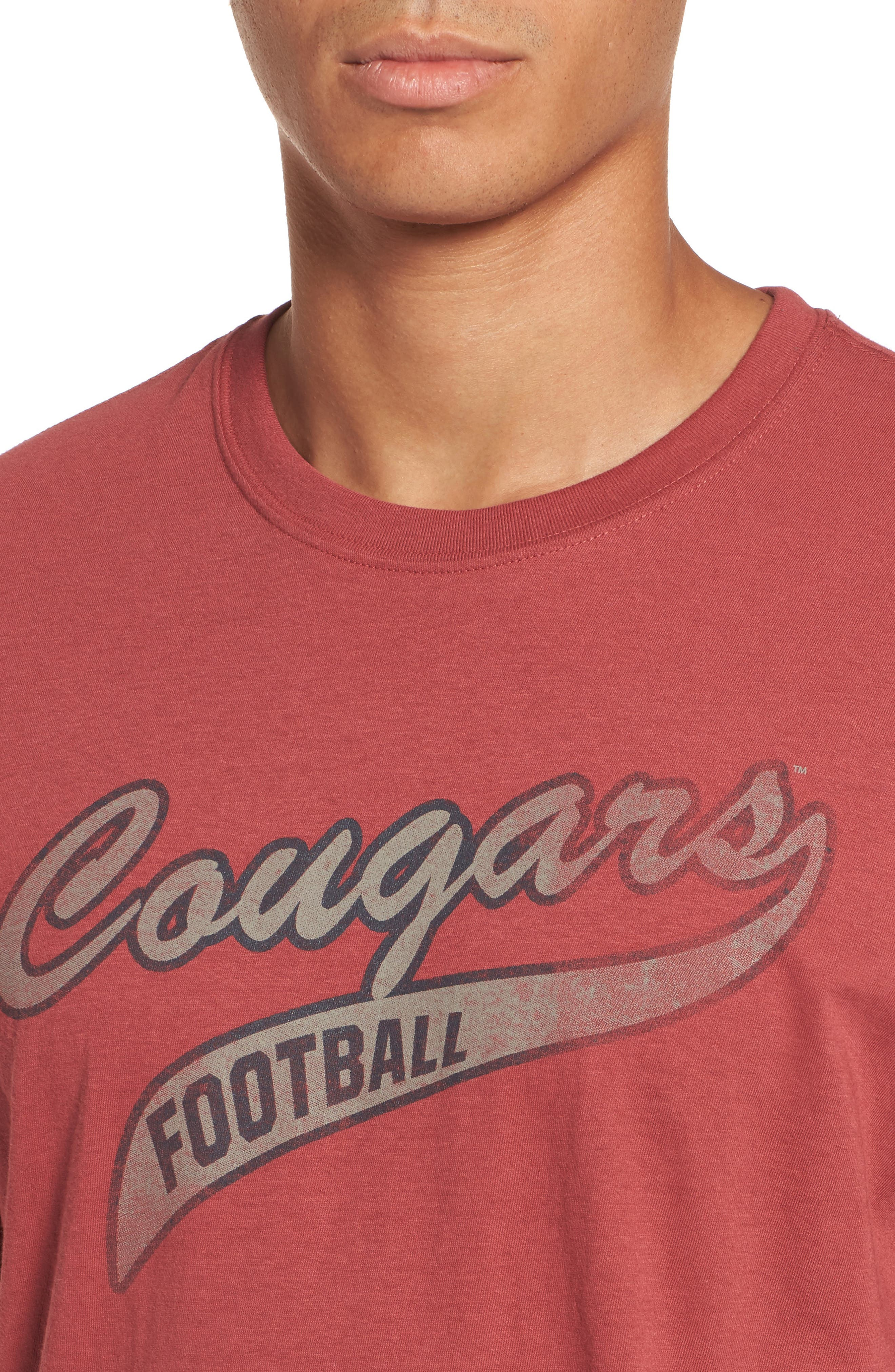Washington State University Cougars Borderland T-Shirt,                             Alternate thumbnail 4, color,                             Red