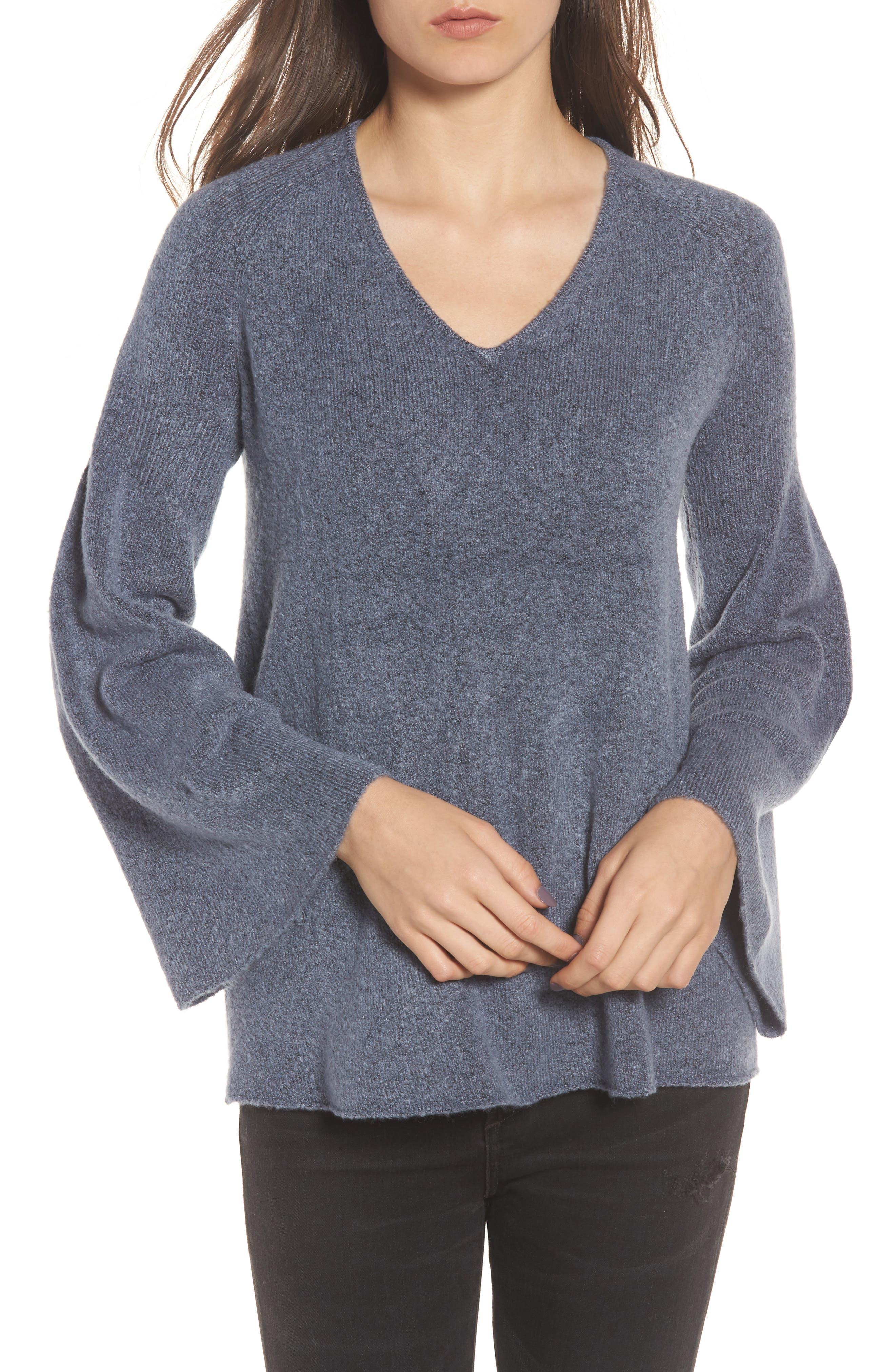 Alternate Image 1 Selected - Hinge Bell Sleeve Sweater