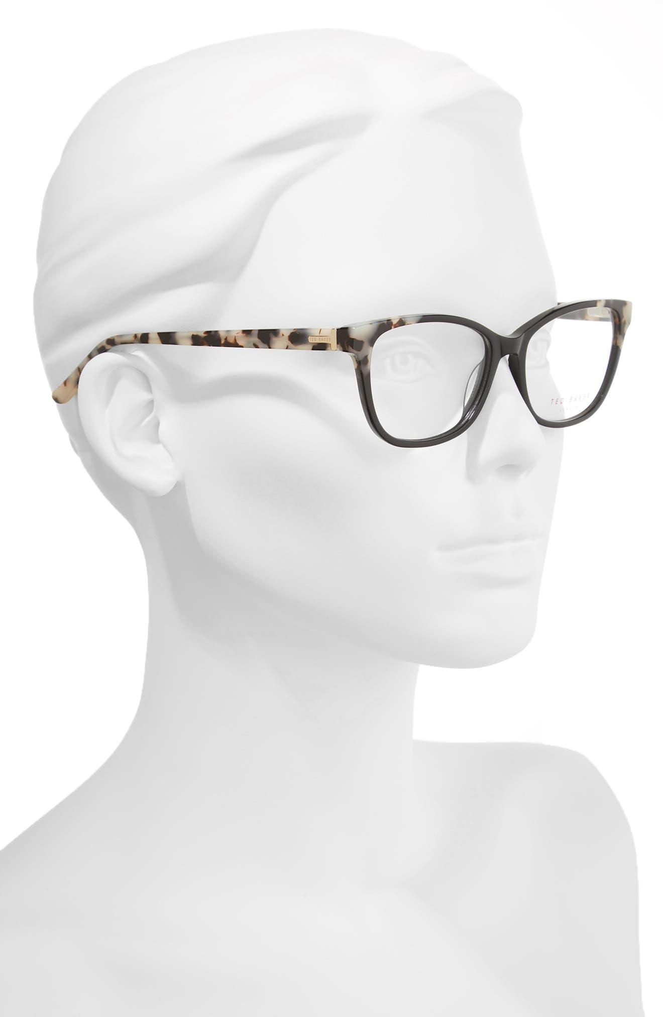 52mm Square Optical Glasses,                             Alternate thumbnail 2, color,                             Black