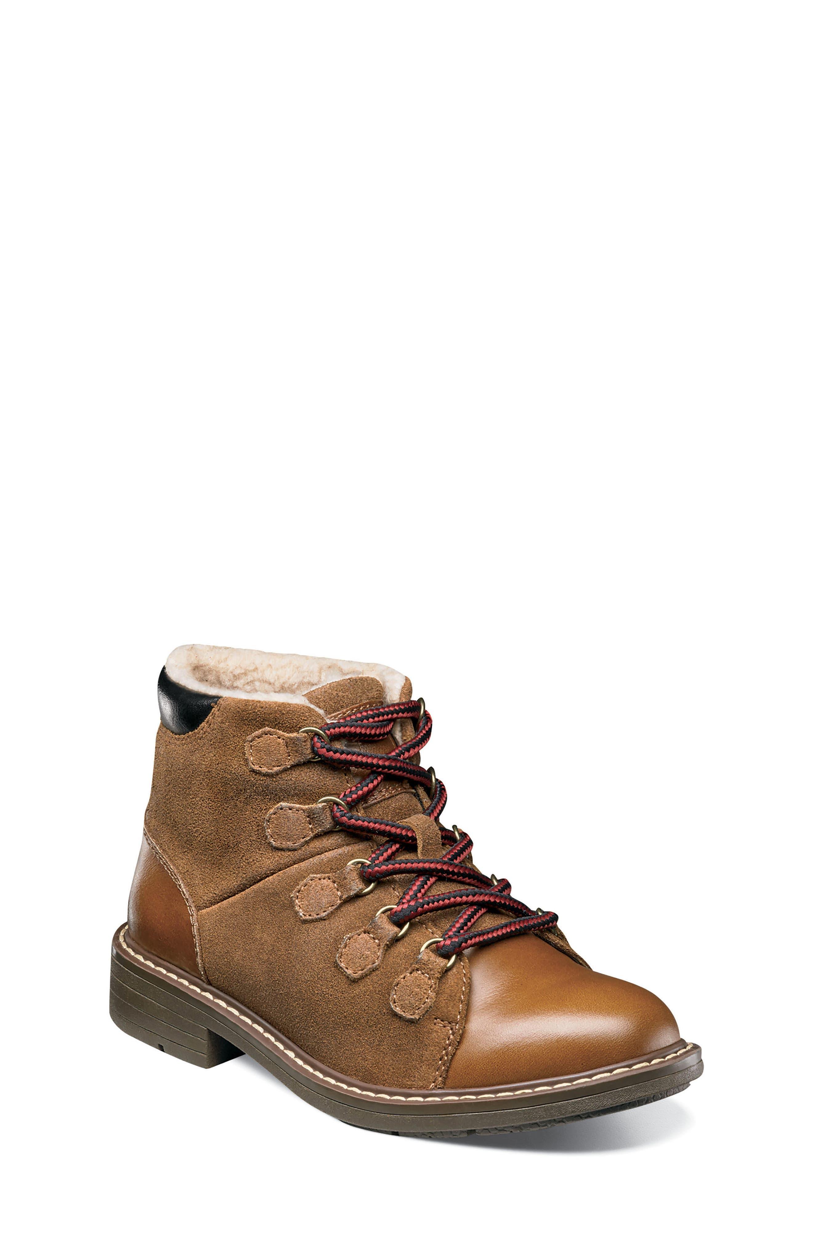 Studio Alpine Plush Lined Boot,                             Main thumbnail 1, color,                             Cognac