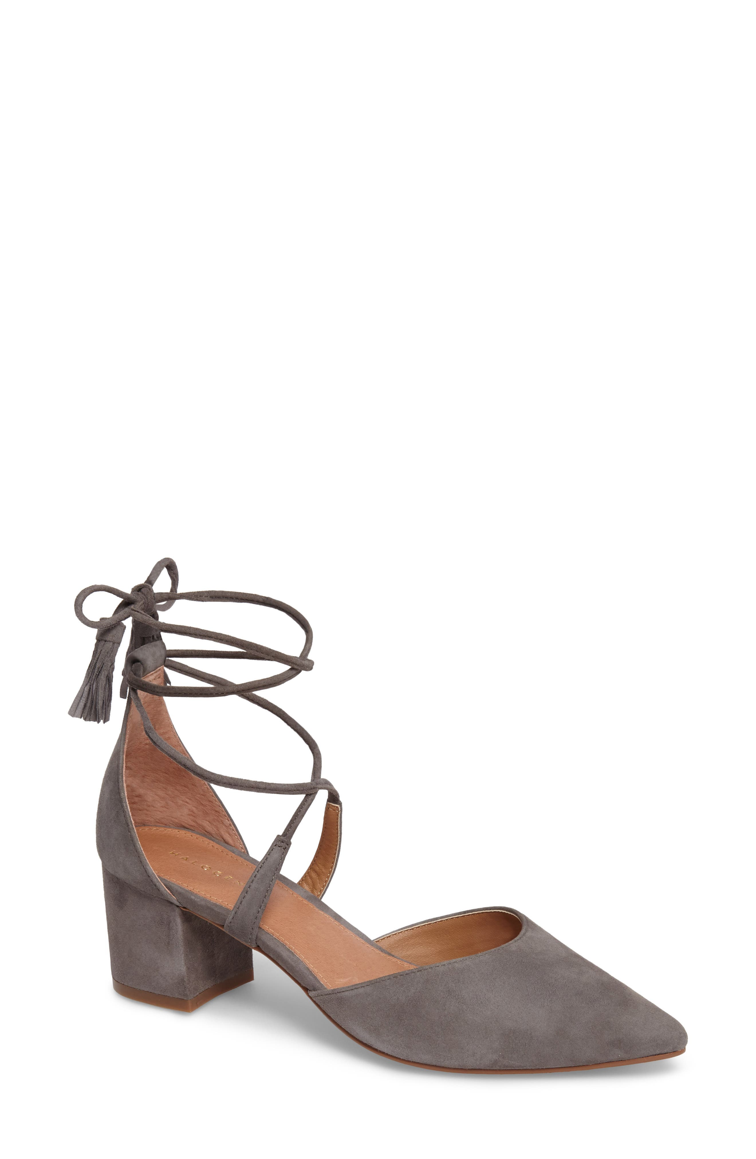 Alternate Image 1 Selected - Halogen® Iris Lace-Up d'Orsay Pump (Women)