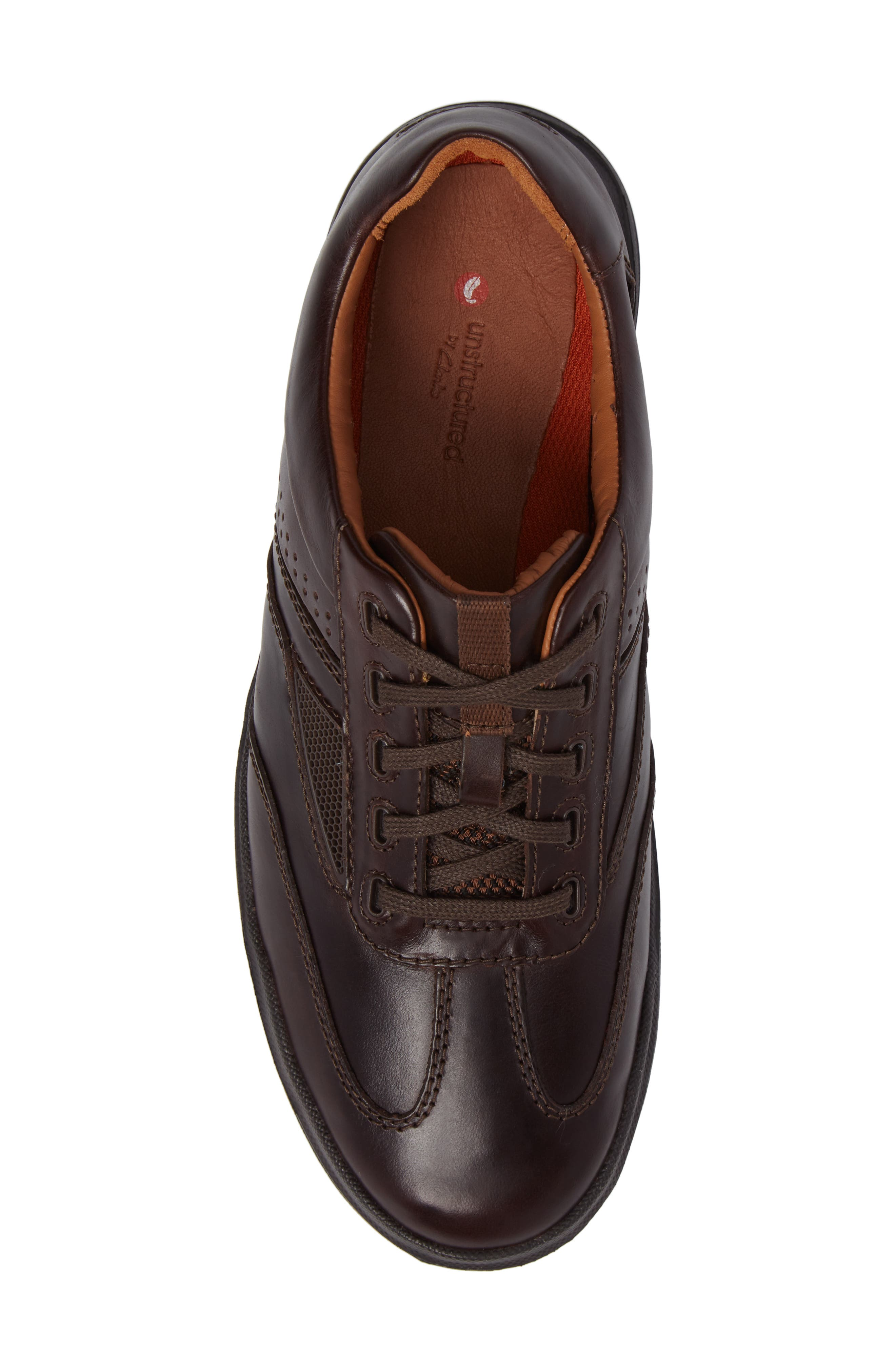 Un.Rhombus Fly Sneaker,                             Alternate thumbnail 5, color,                             Brown Leather