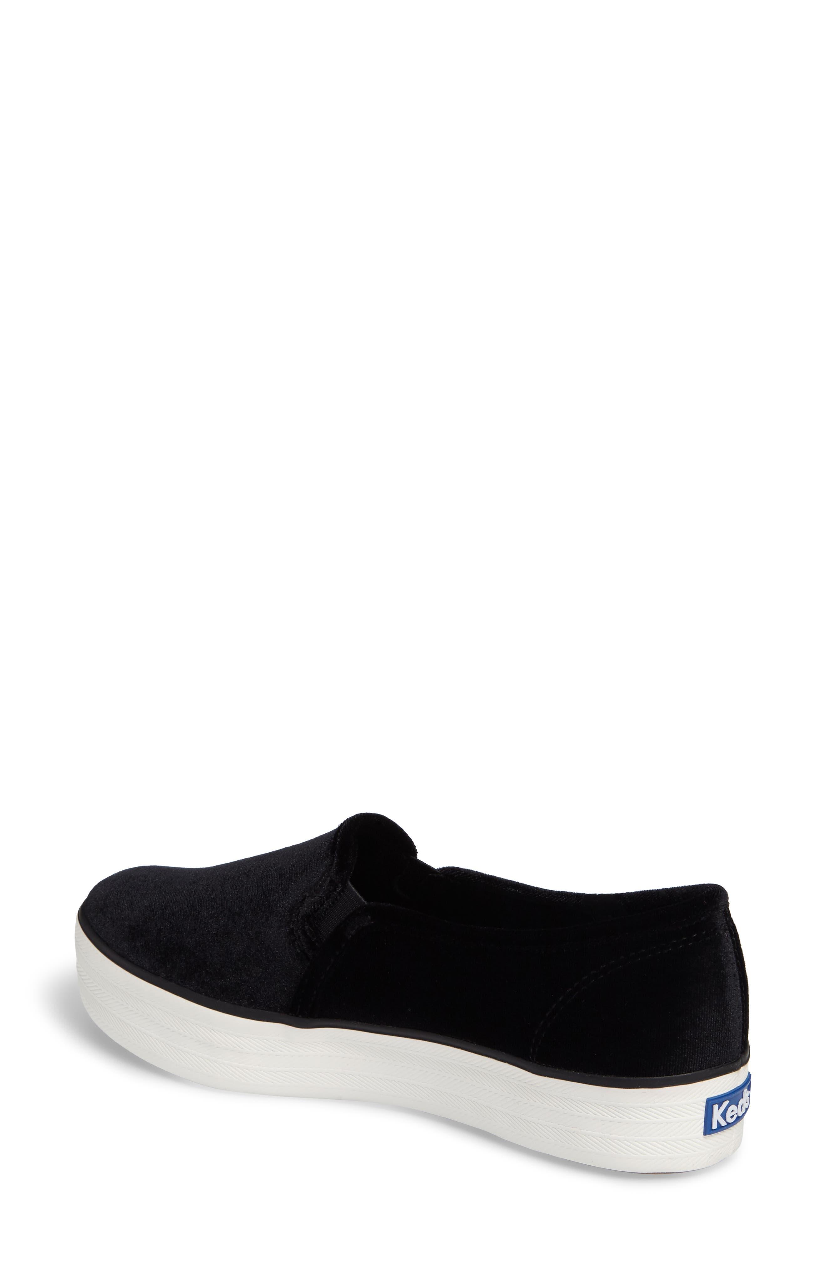 Triple Decker Slip-On Platform Sneaker,                             Alternate thumbnail 2, color,                             Black Velvet