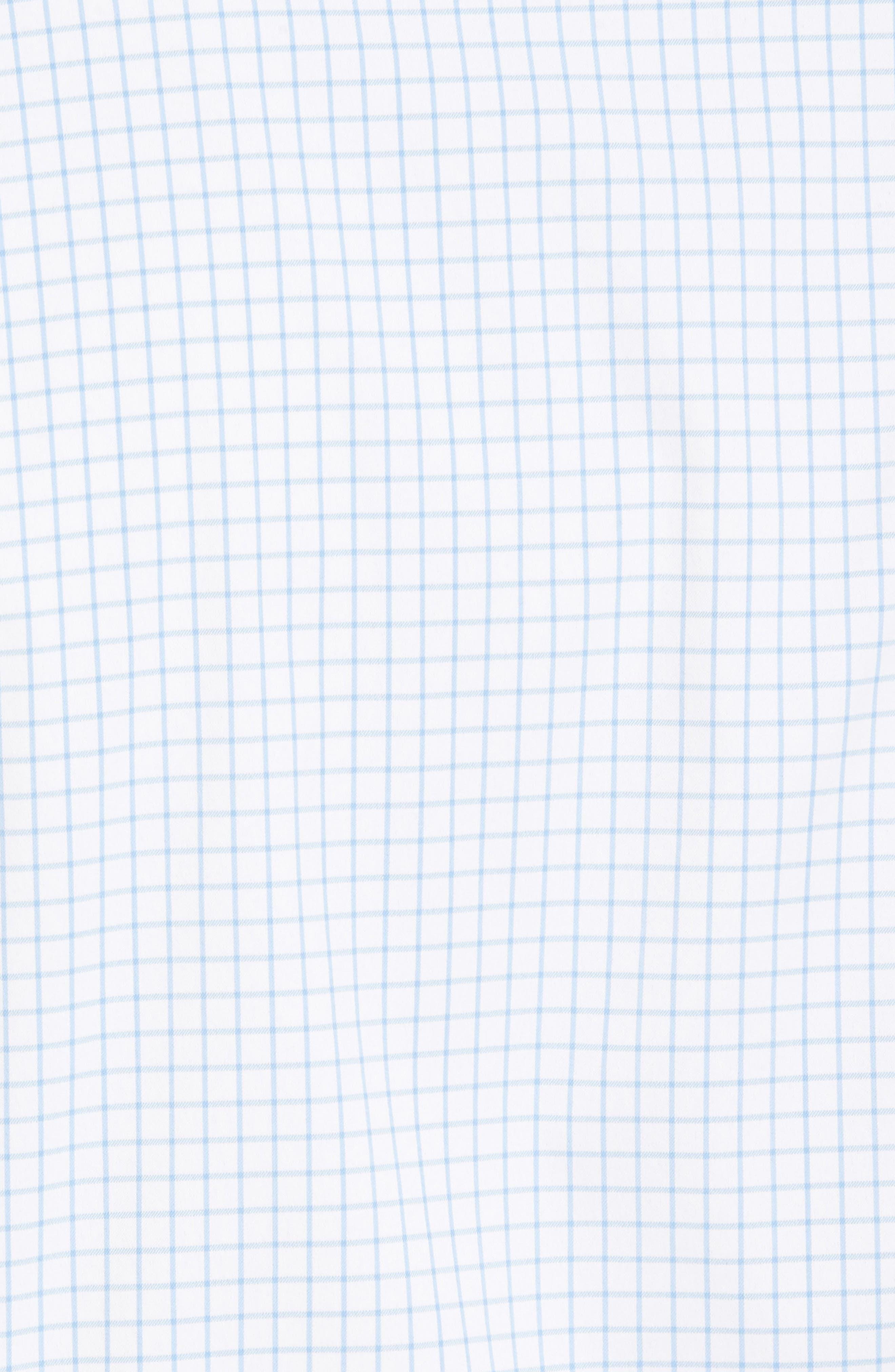 Captain Check Performance Sport Shirt,                             Alternate thumbnail 5, color,                             Cottage Blue
