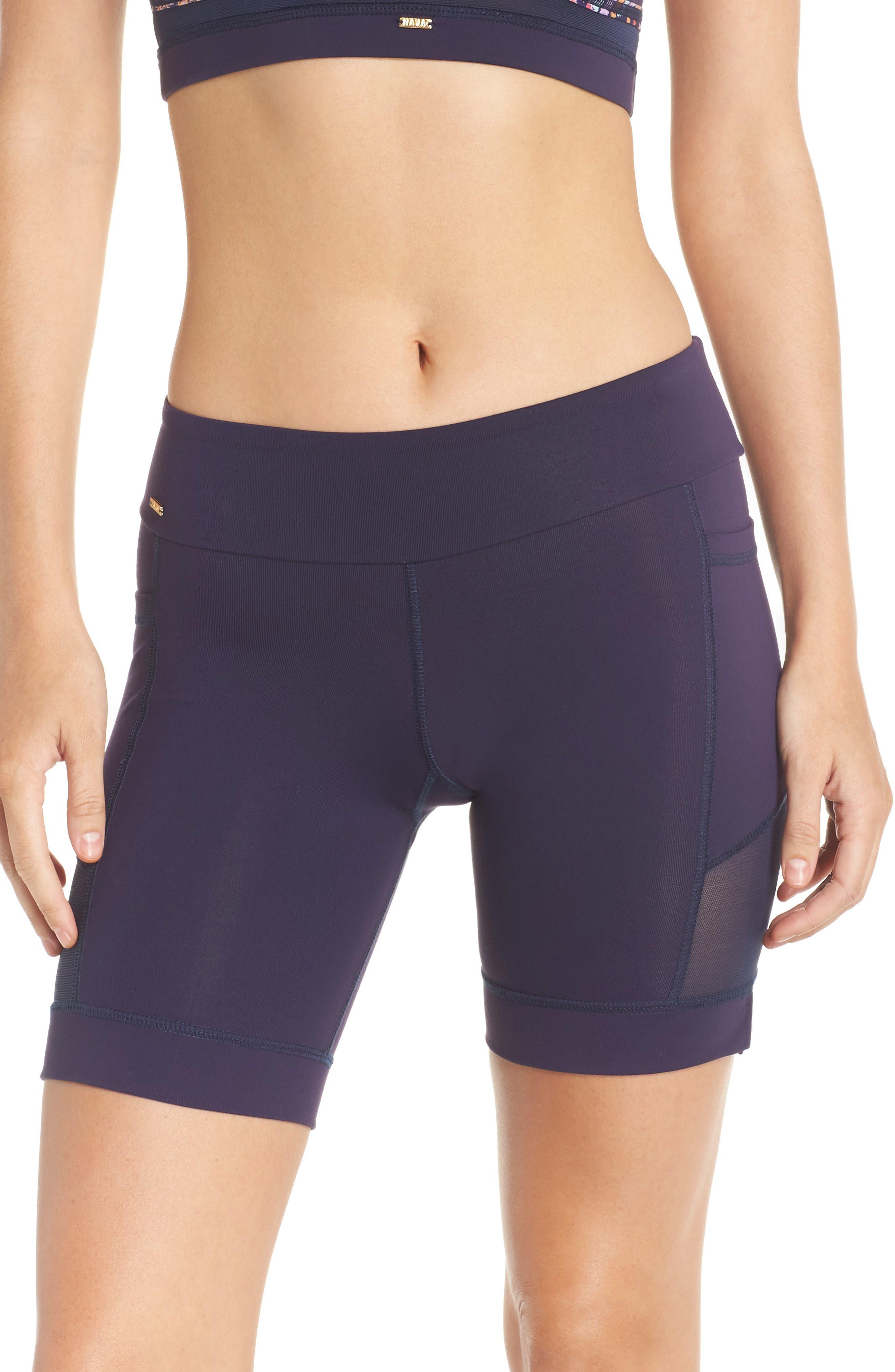 Nicole Active Shorts,                             Main thumbnail 1, color,                             Navy Mesh
