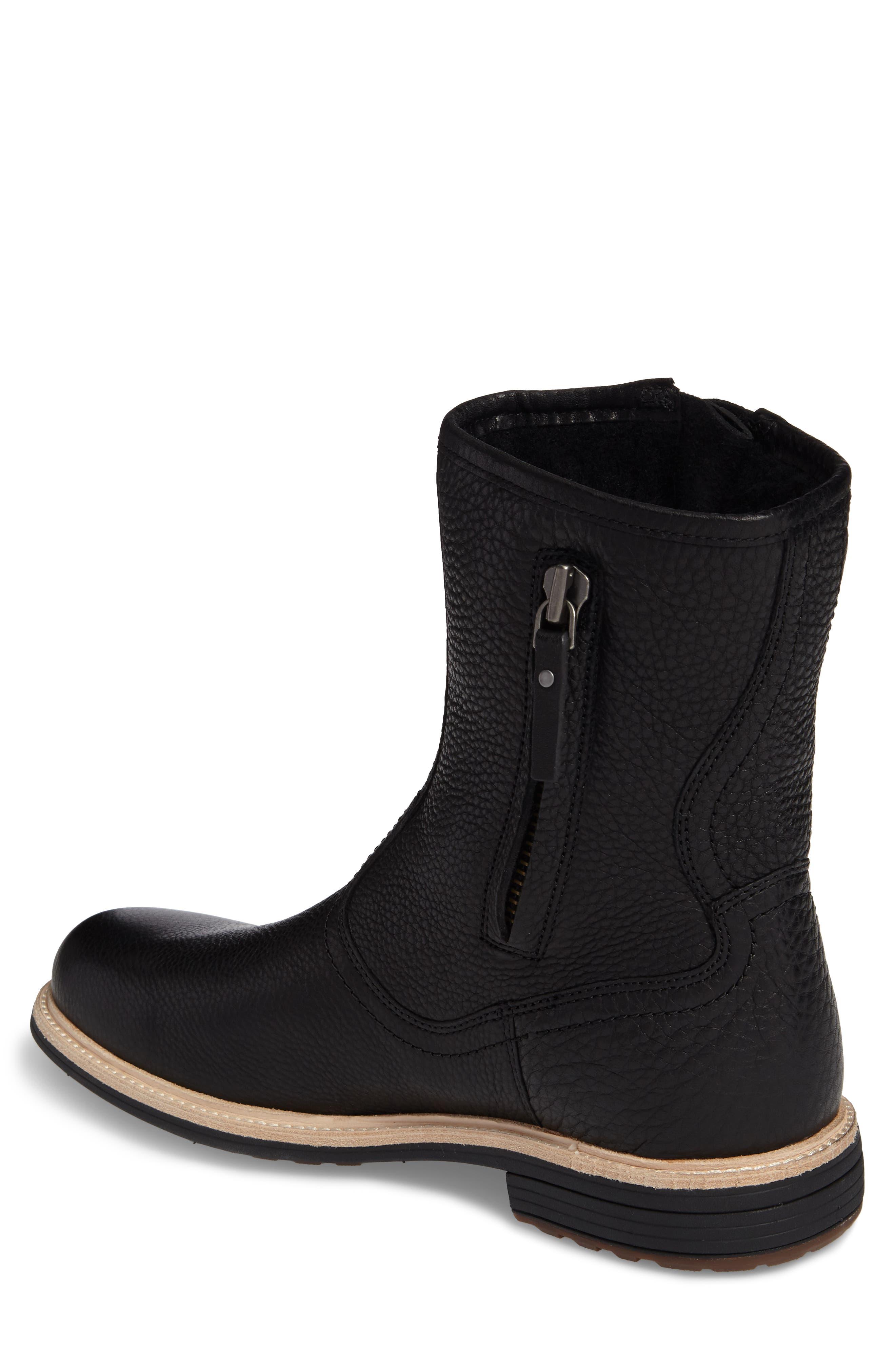 Jaren Zip Boot with Genuine Shearling,                             Alternate thumbnail 2, color,                             Black