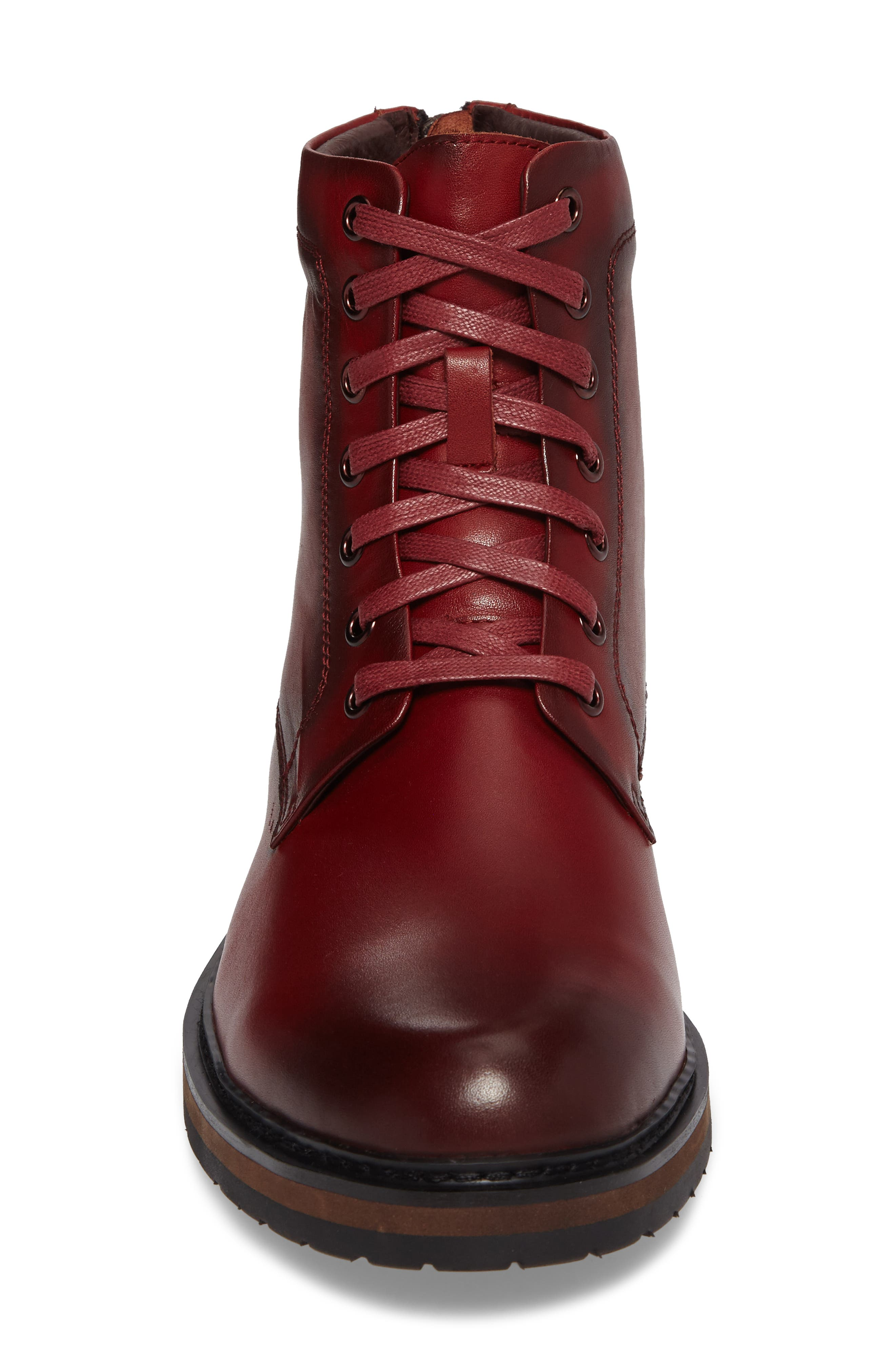 Miro Combat Boot,                             Alternate thumbnail 4, color,                             Wine Leather