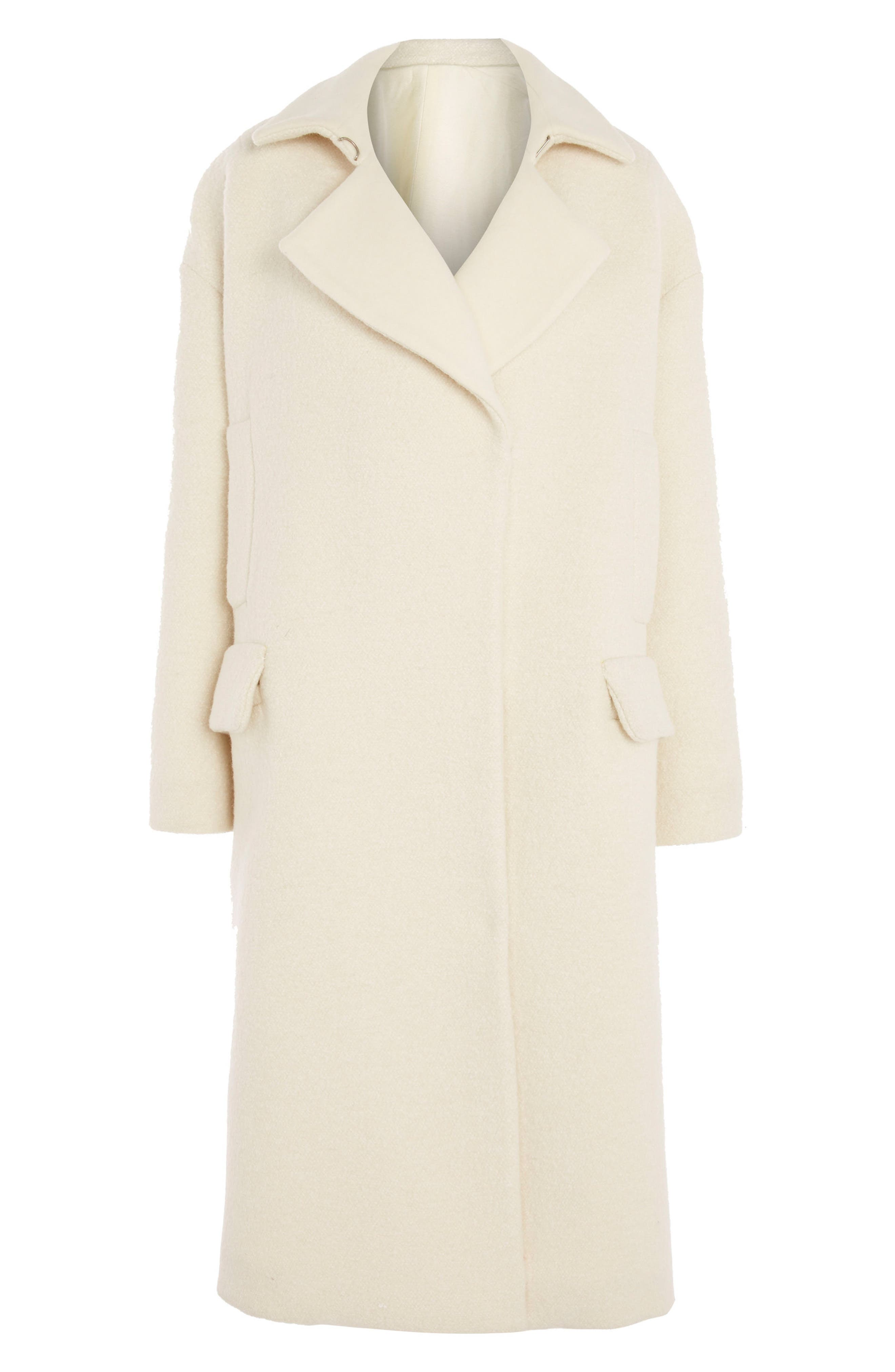 Topshop Contrast Lapel Top Coat
