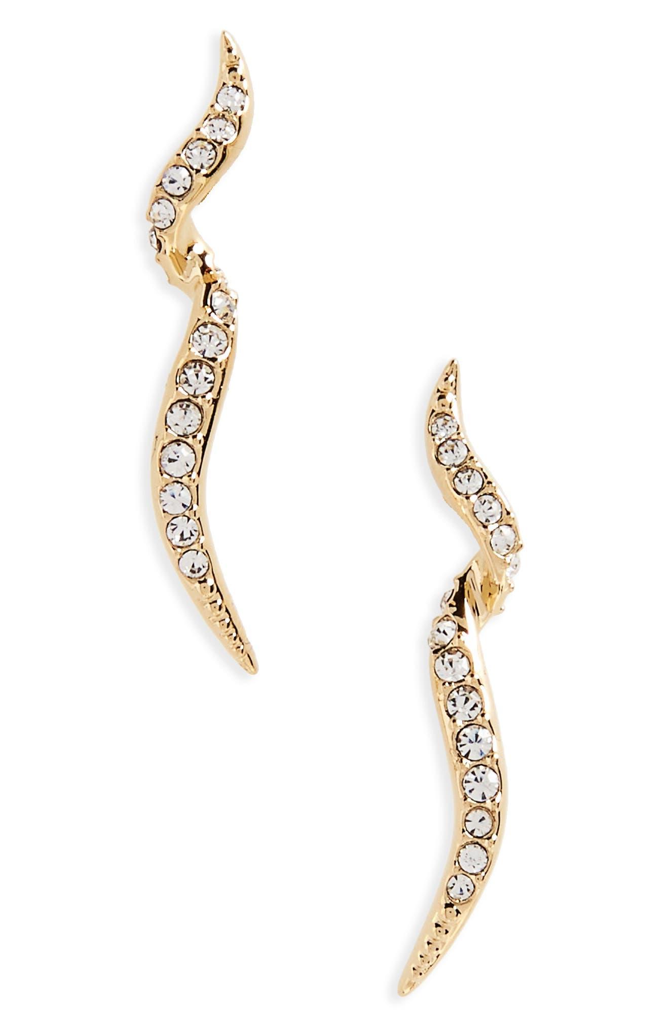 Nadri Citron Stud Earrings