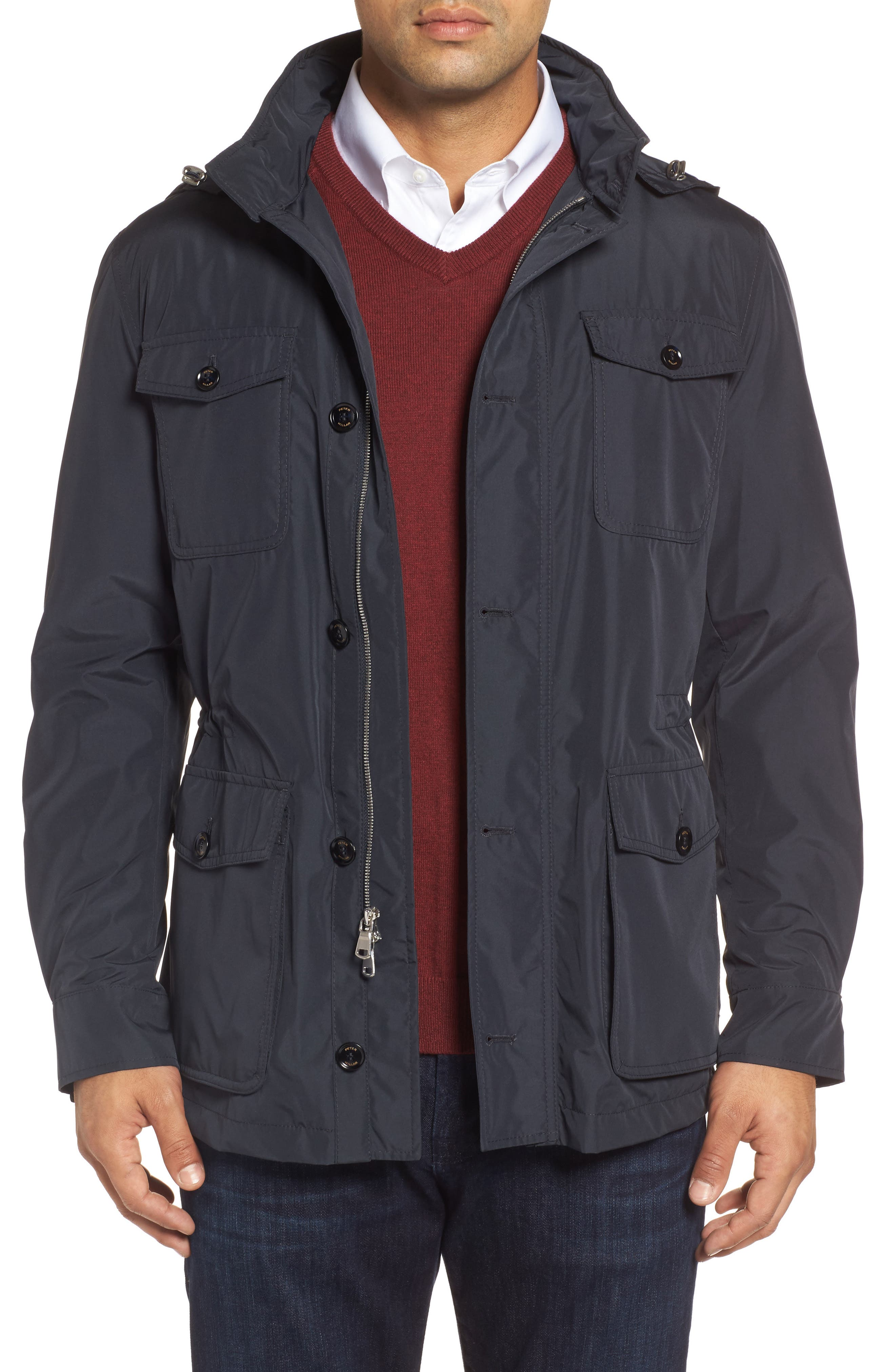 Peter Millar All Weather Discovery Jacket,                         Main,                         color, Blue