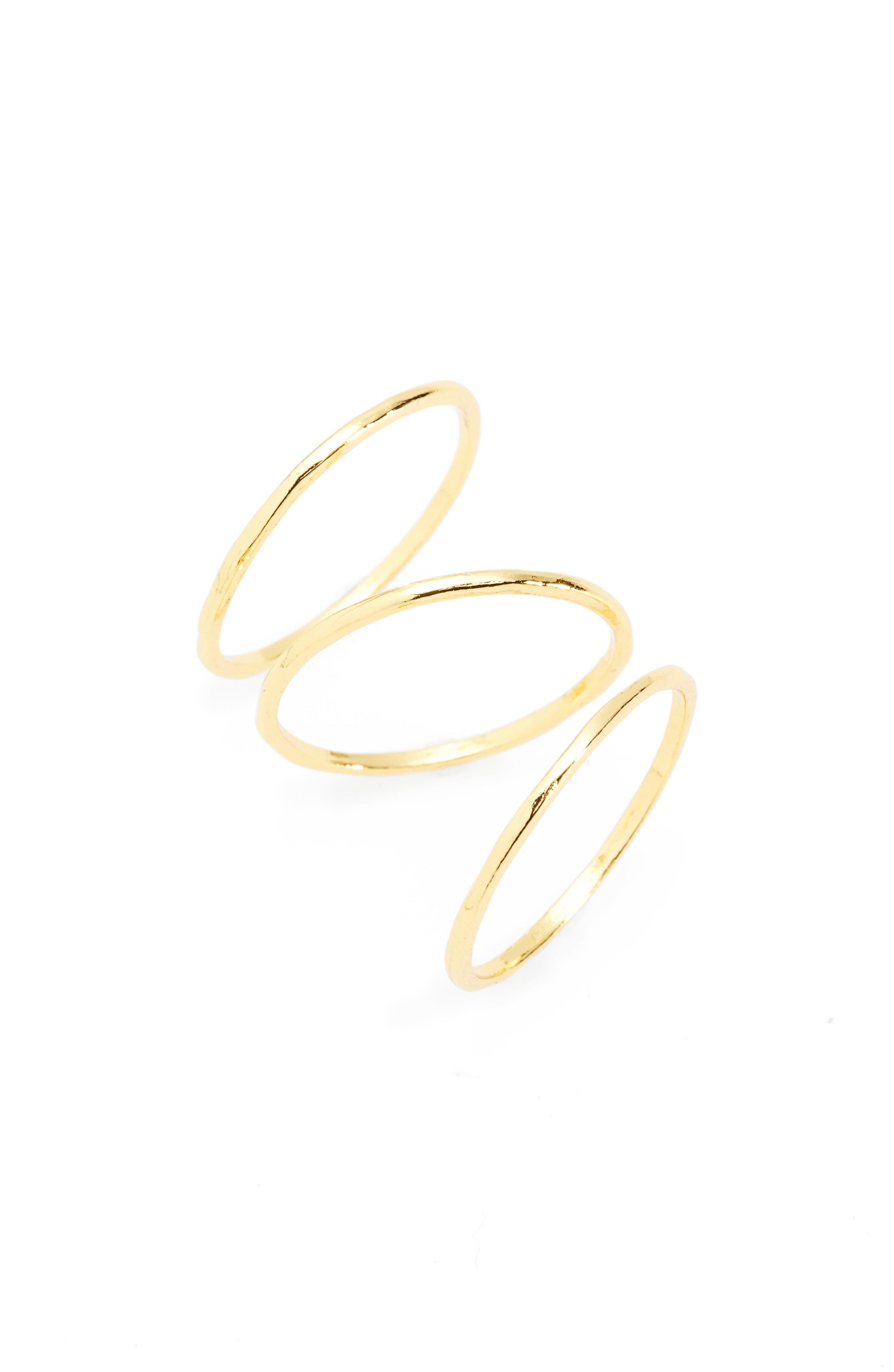 Alternate Image 1 Selected - gorjana 'G Ring' Rings (Set of 3)