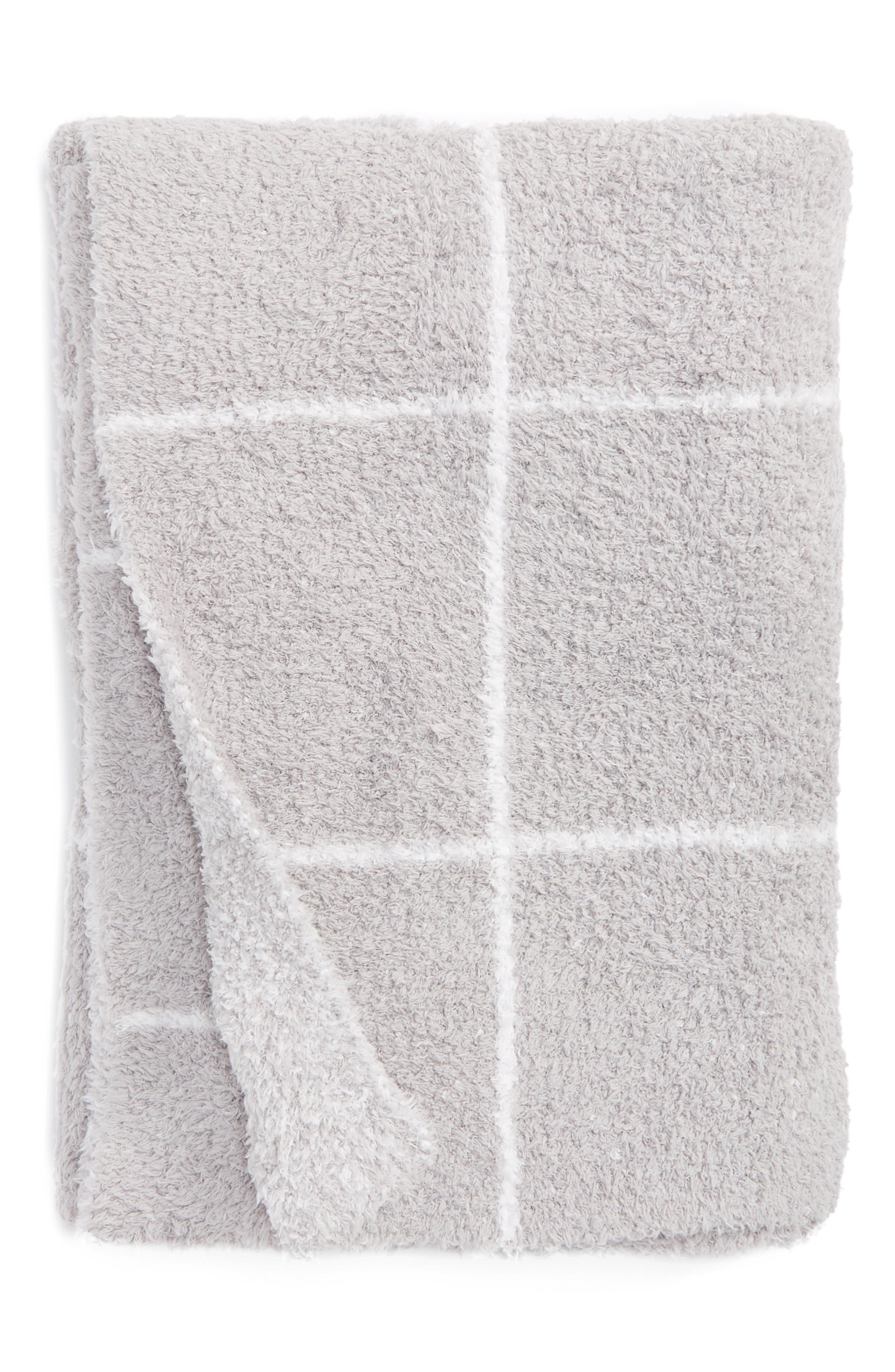Main Image - Barefoot Dreams® Cozychic® Windowpane Plaid Throw Blanket