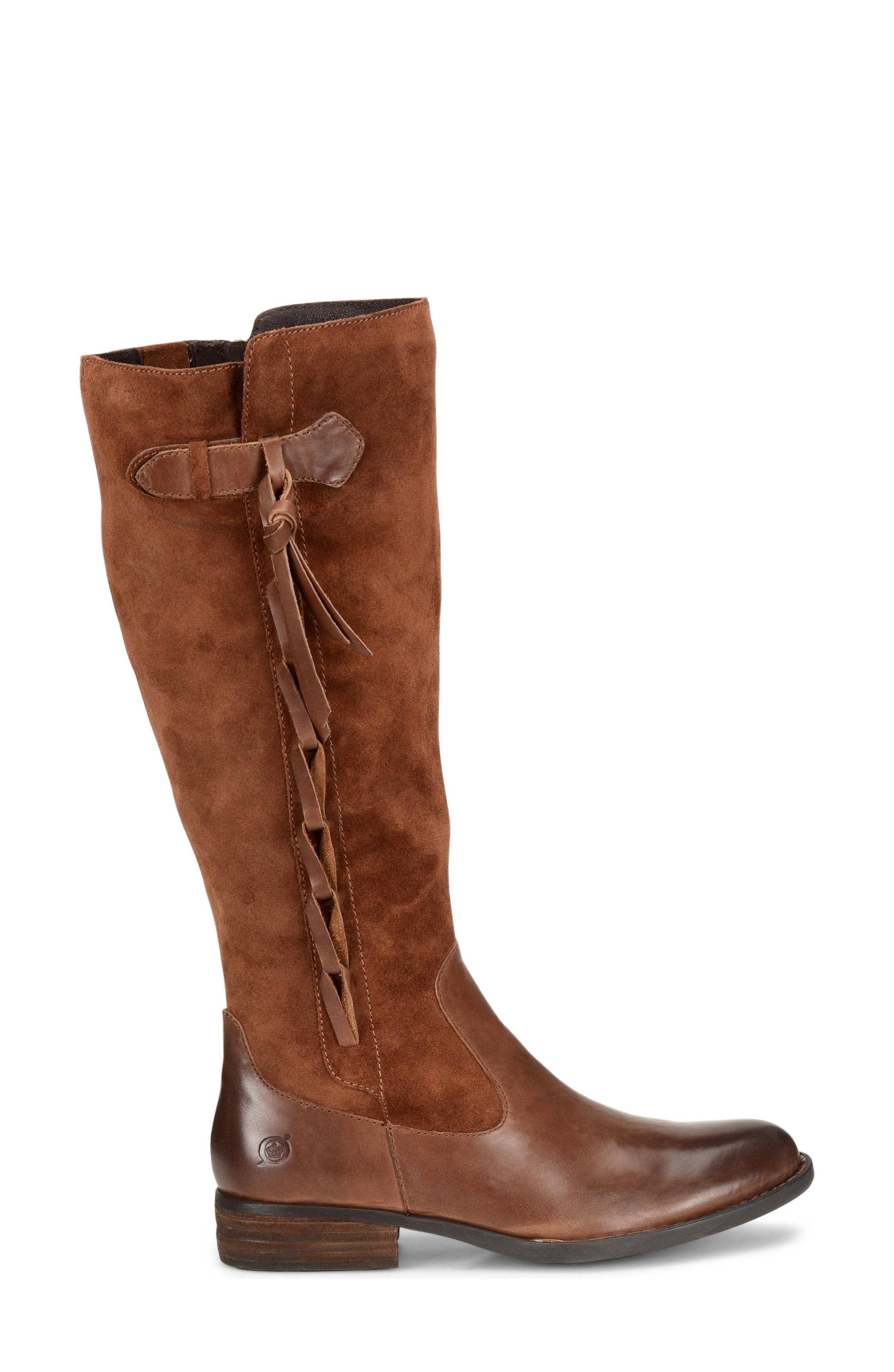 Cook Knee High Boot,                             Alternate thumbnail 3, color,                             Brown/ Rust Combo