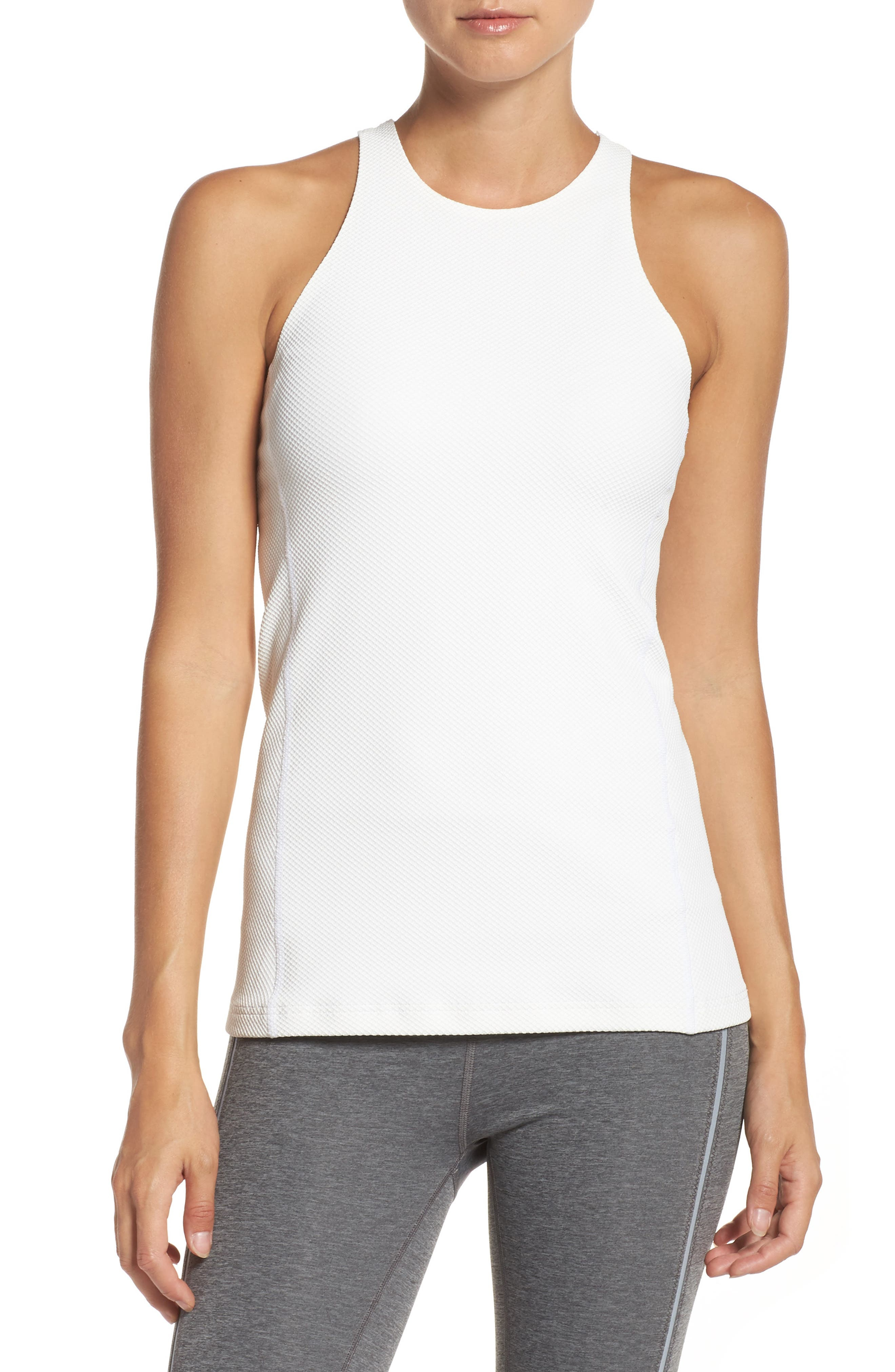 Racerback Tank,                         Main,                         color, White
