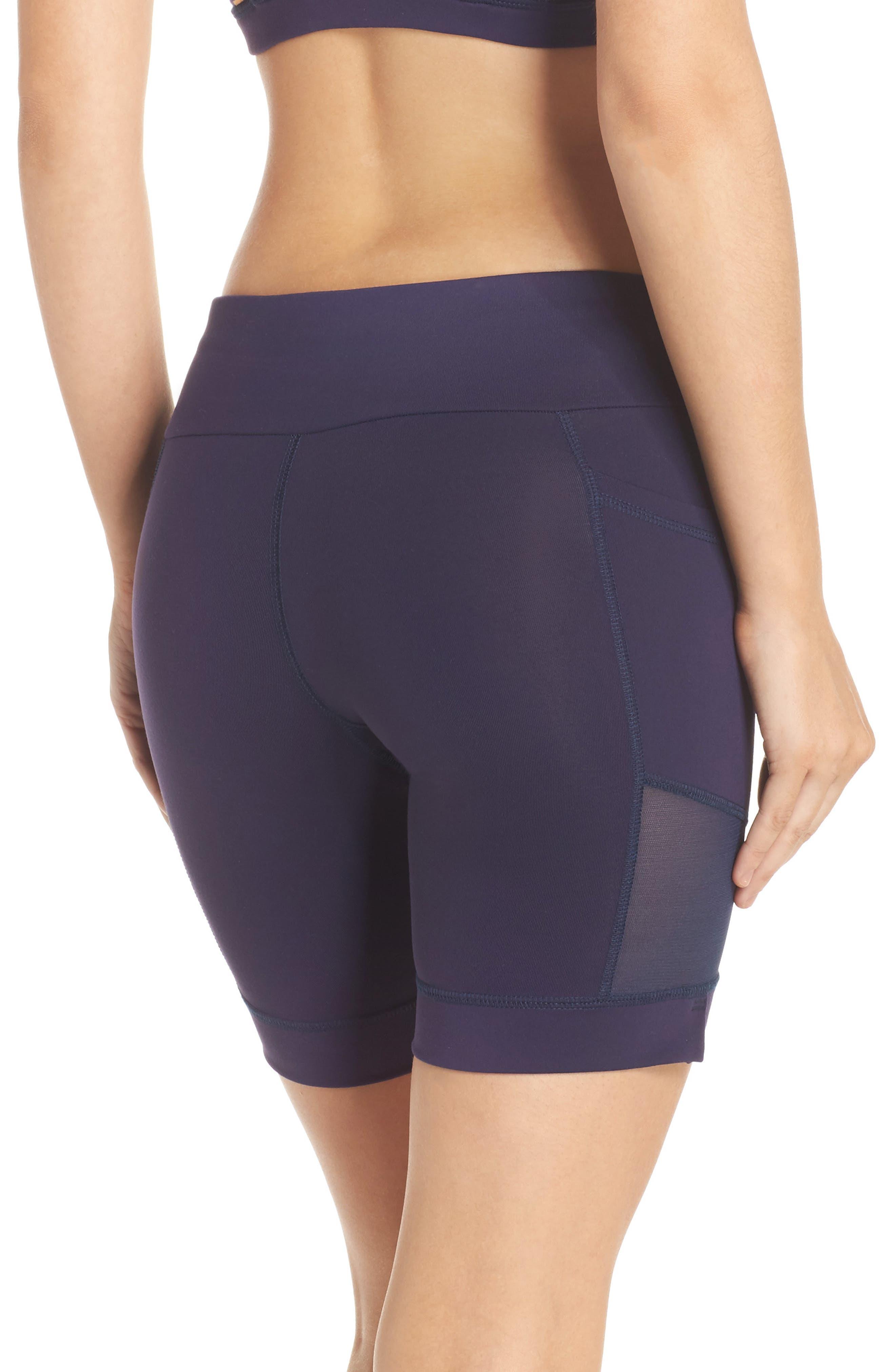 Nicole Active Shorts,                             Alternate thumbnail 2, color,                             Navy Mesh