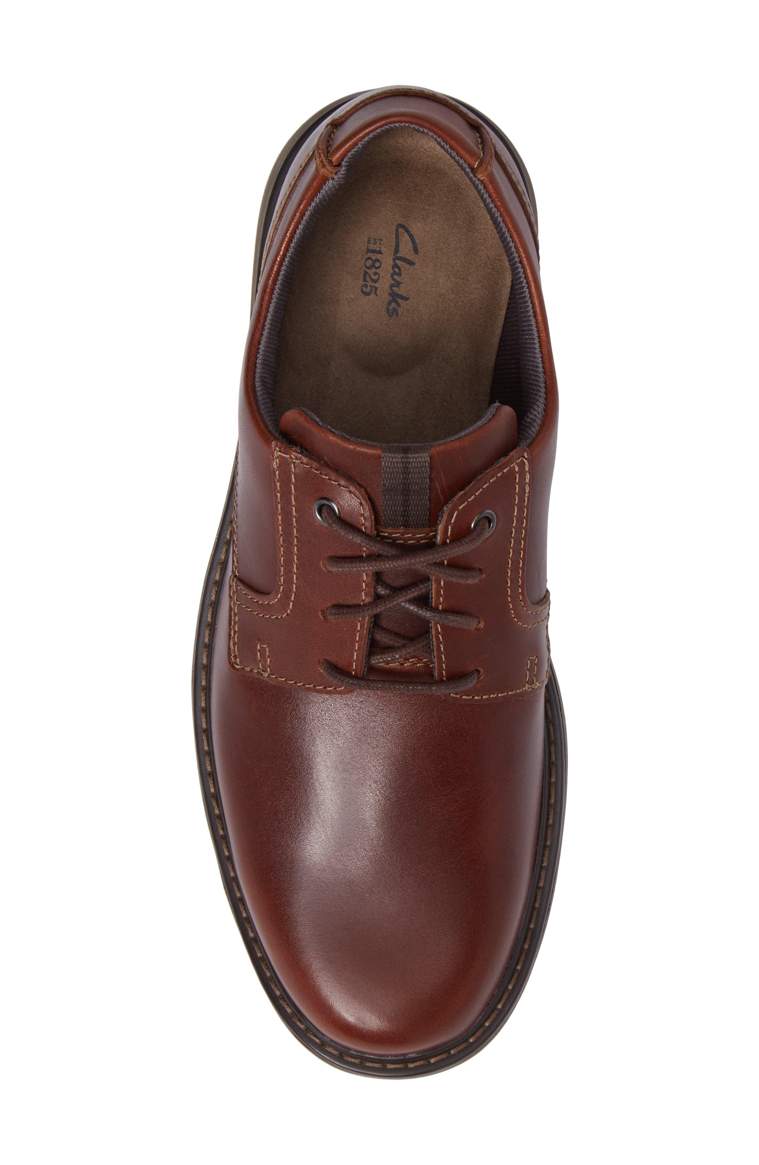Cushox Plain Toe Derby,                             Alternate thumbnail 5, color,                             Dark Tan Leather