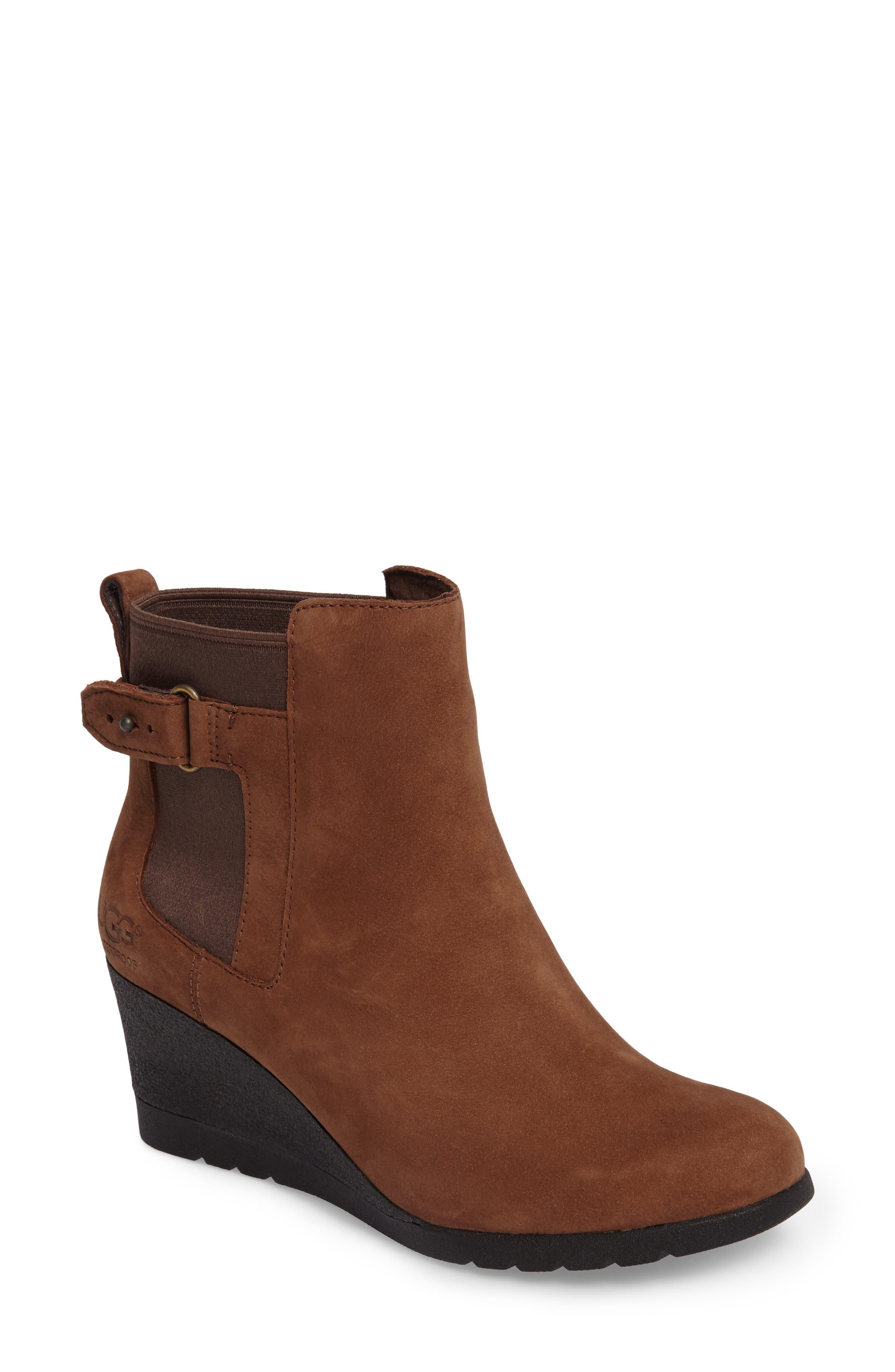 Alternate Image 1 Selected - UGG® Waterproof Insulated Wedge Boot (Women)