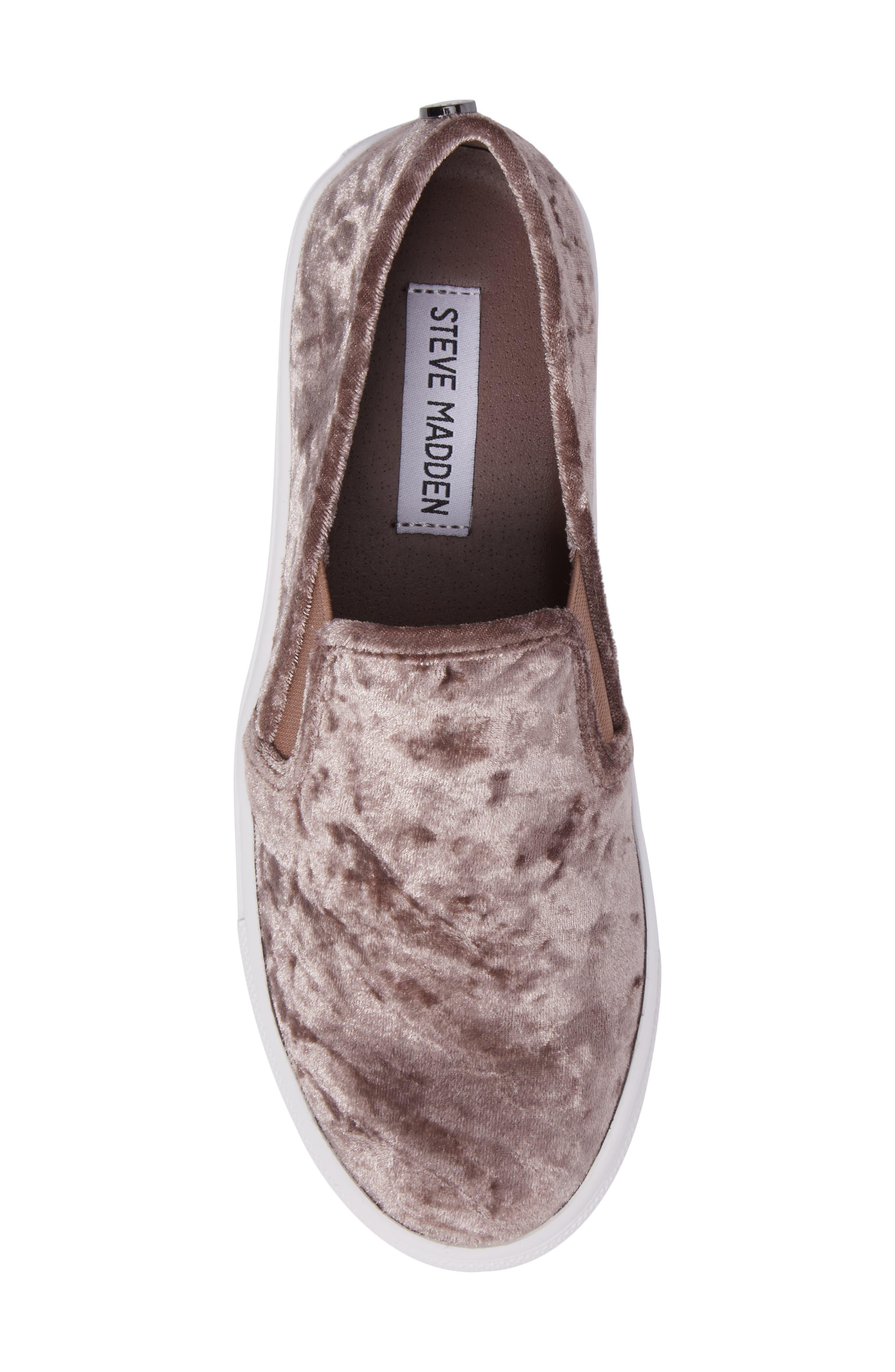 Ecntrcv Slip-On Sneaker,                             Alternate thumbnail 5, color,                             Mushroom Fabric