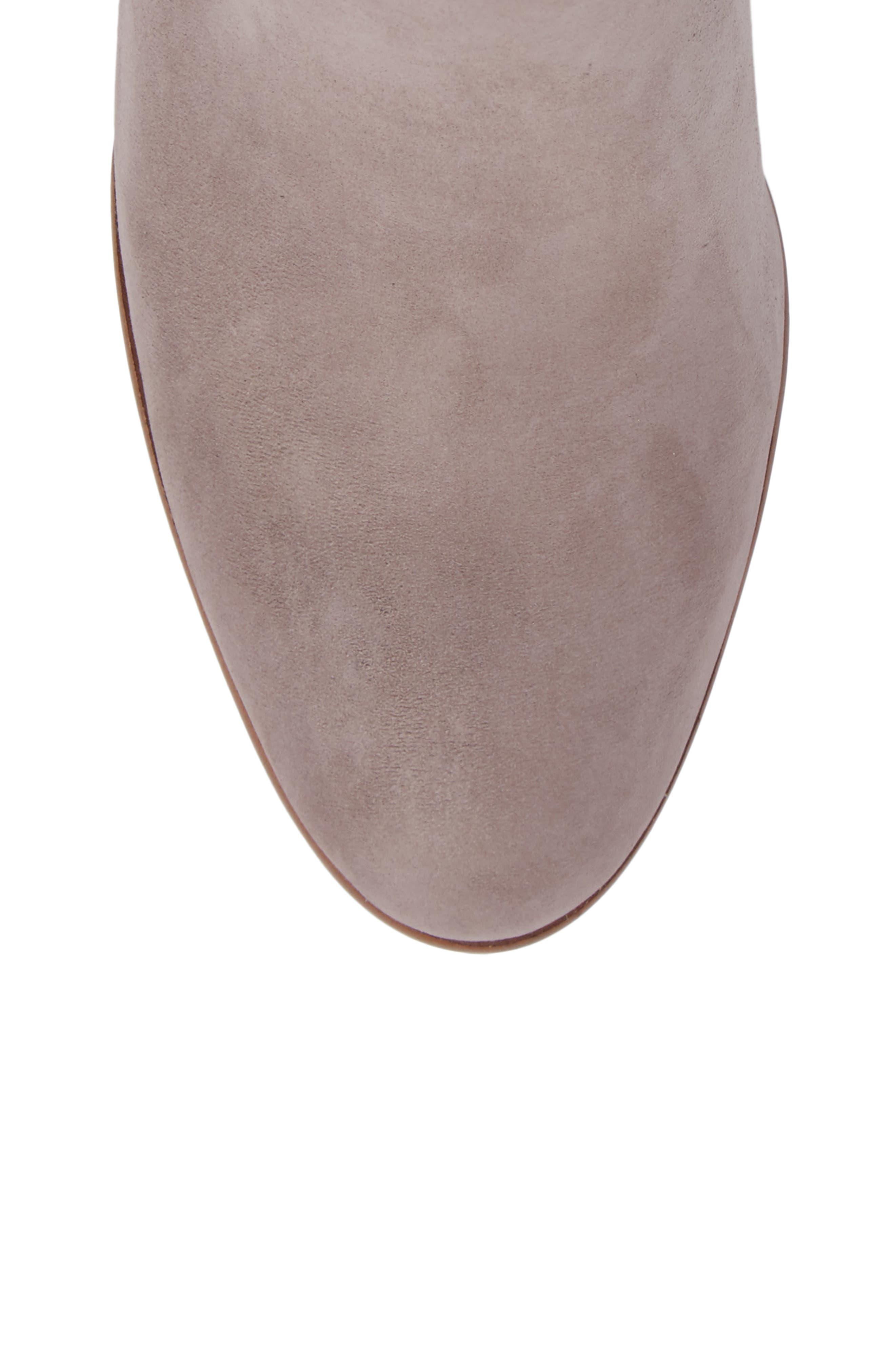 Zanara Bootie,                             Alternate thumbnail 5, color,                             Gravel Leather