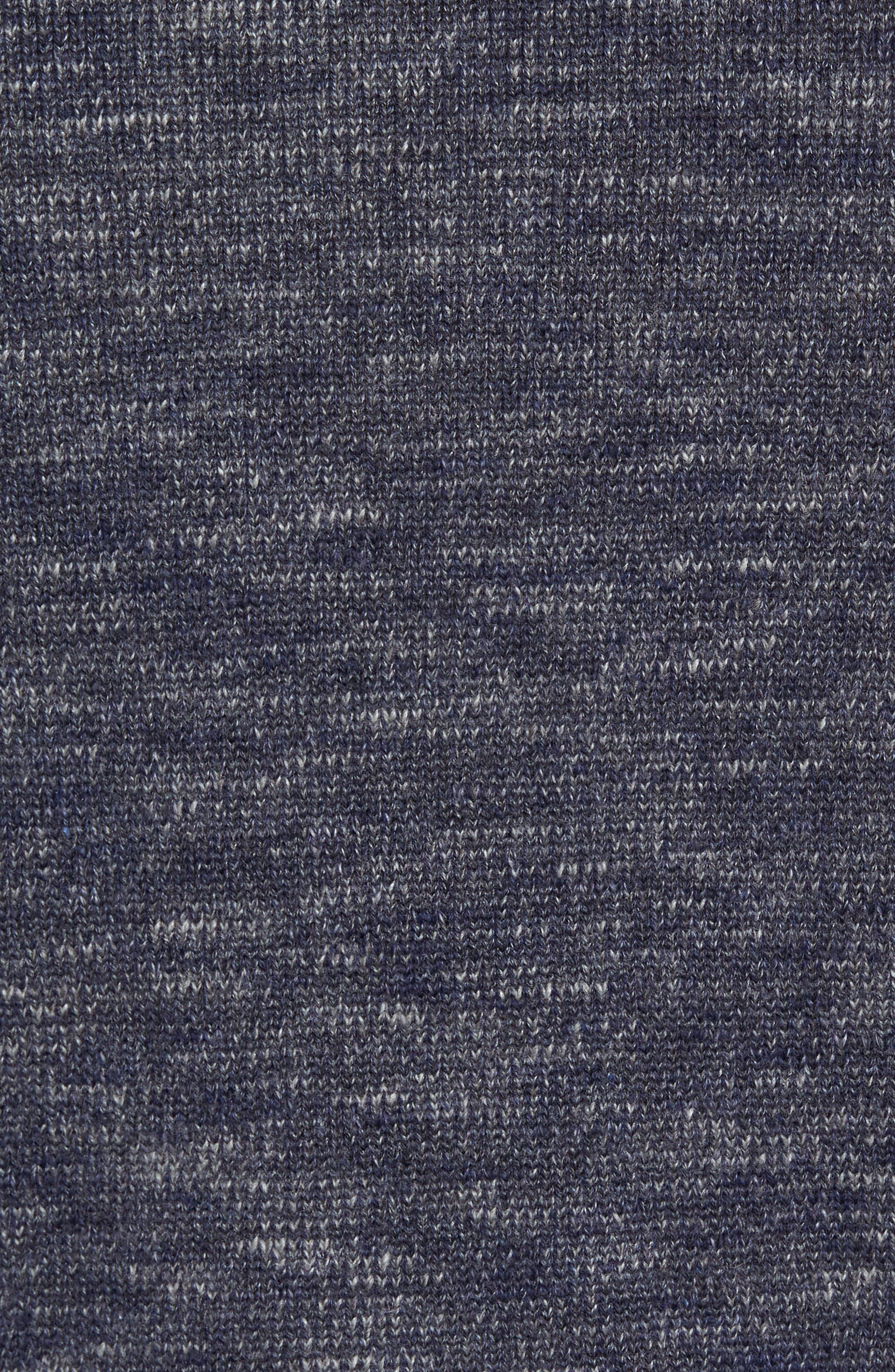 Gran Rey Flip Reversible Cotton & Wool Sweater,                             Alternate thumbnail 4, color,                             Ocean Deep Heather