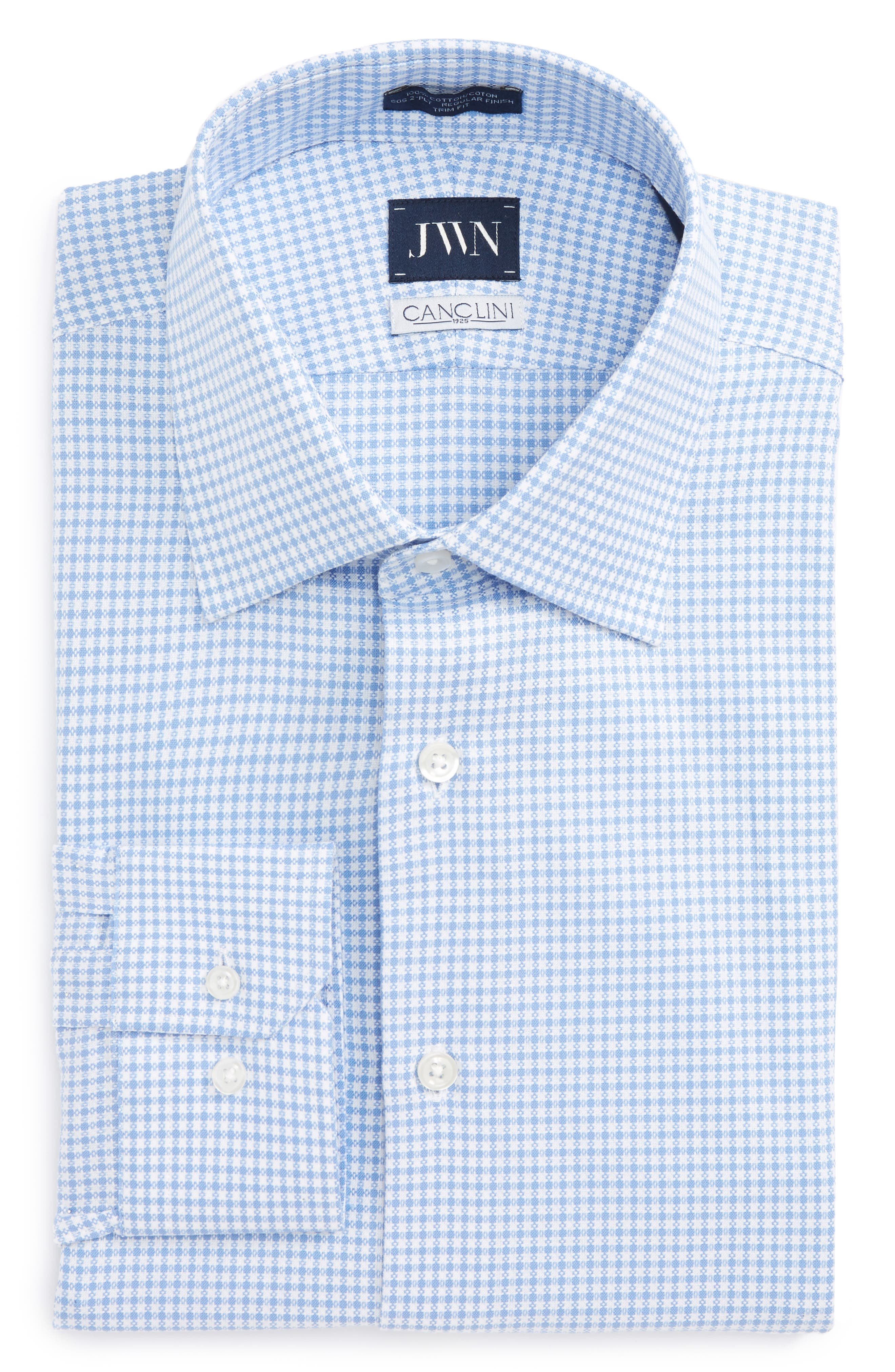 Alternate Image 1 Selected - John W. Nordstrom® Trim Fit Check Dress Shirt