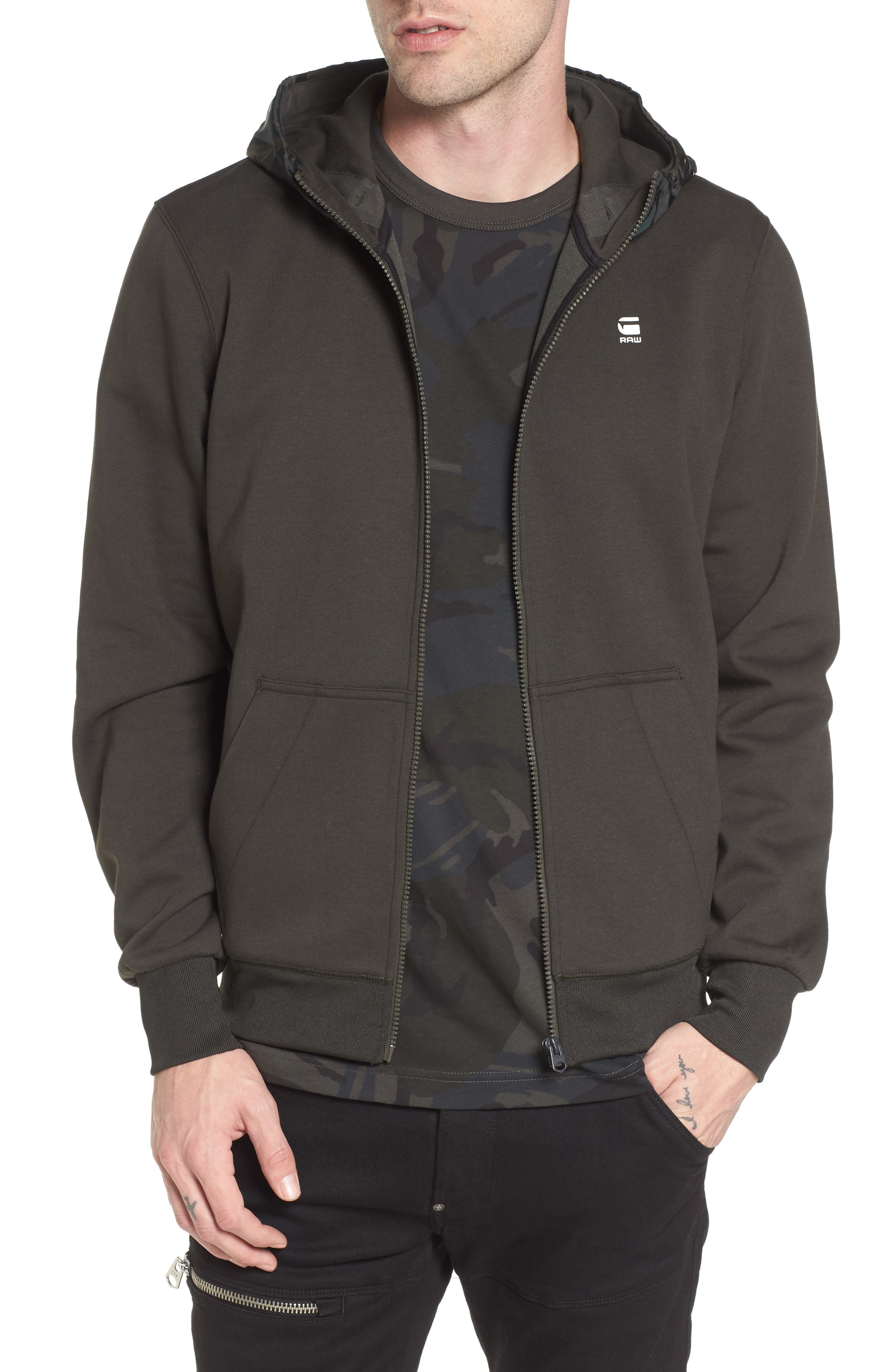 Main Image - G-Star Raw Core Hooded Zip Sweatshirt