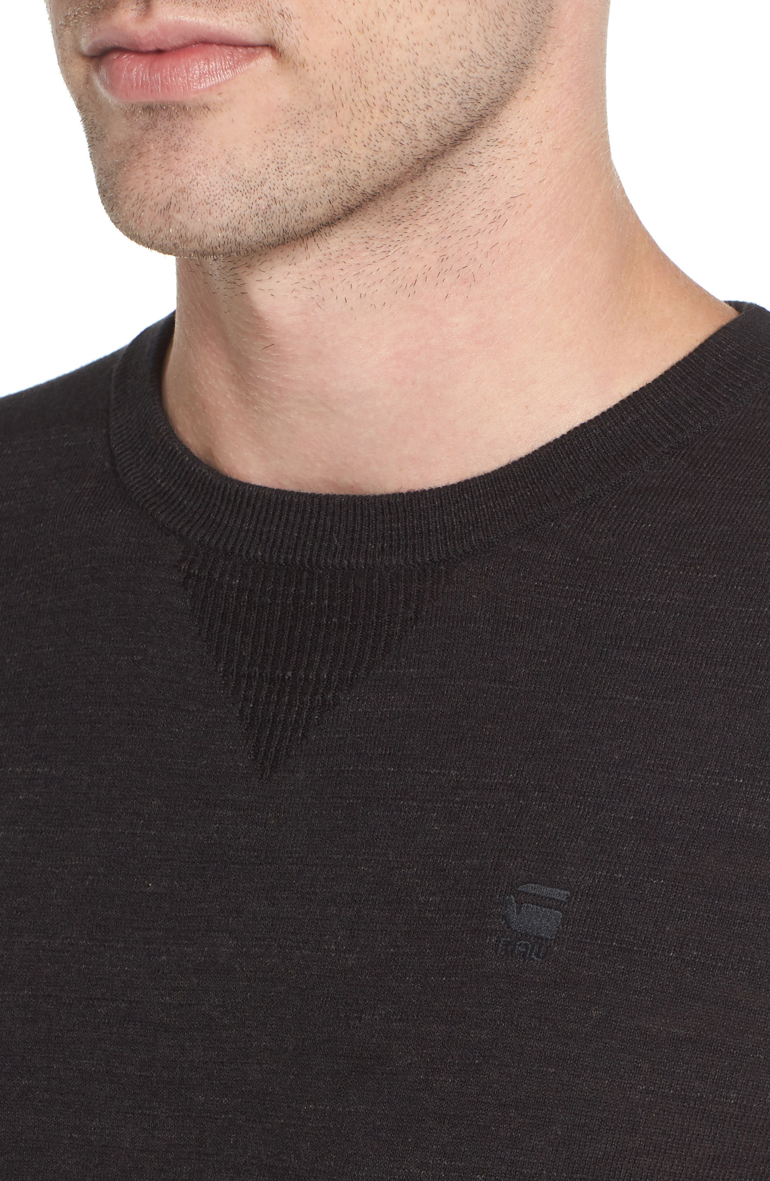 Core Sweater,                             Alternate thumbnail 4, color,                             Dark Black Heather