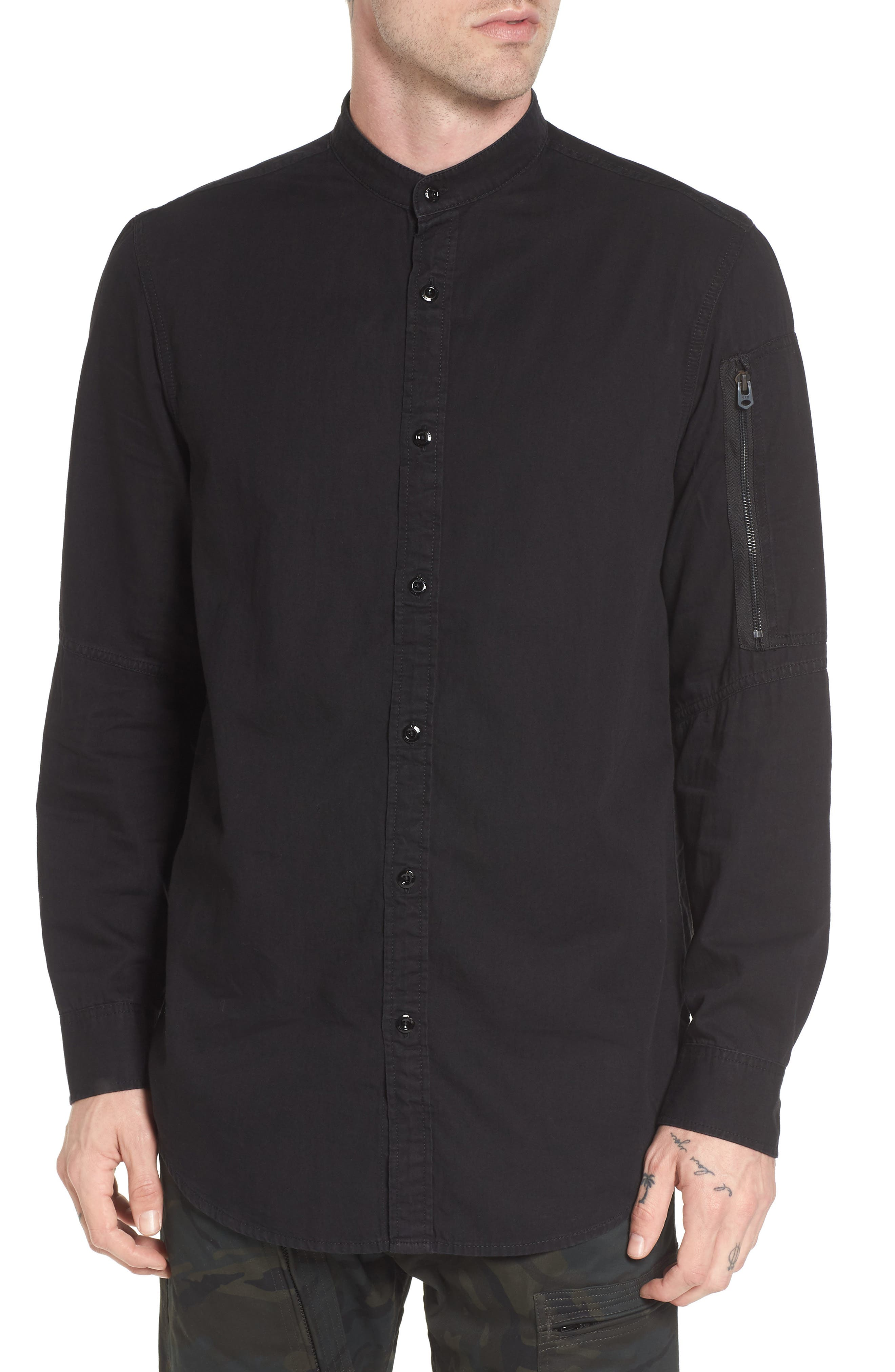 Stalt C-Less Shirt,                         Main,                         color, Rinsed Black