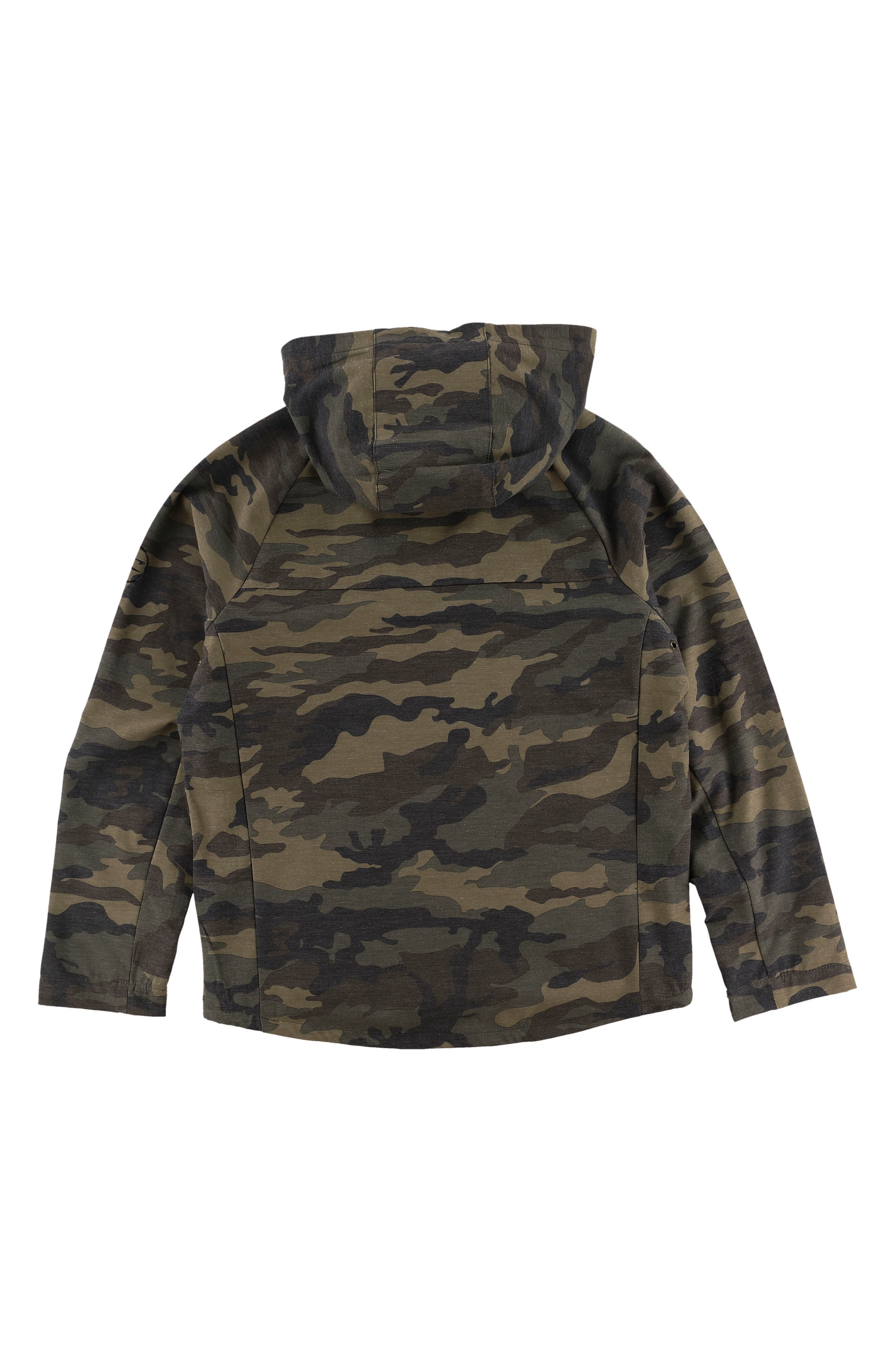 Alternate Image 2  - O'Neill Traveler Dawn Patrol Camo Hooded Windbreaker Jacket (Big Boys)