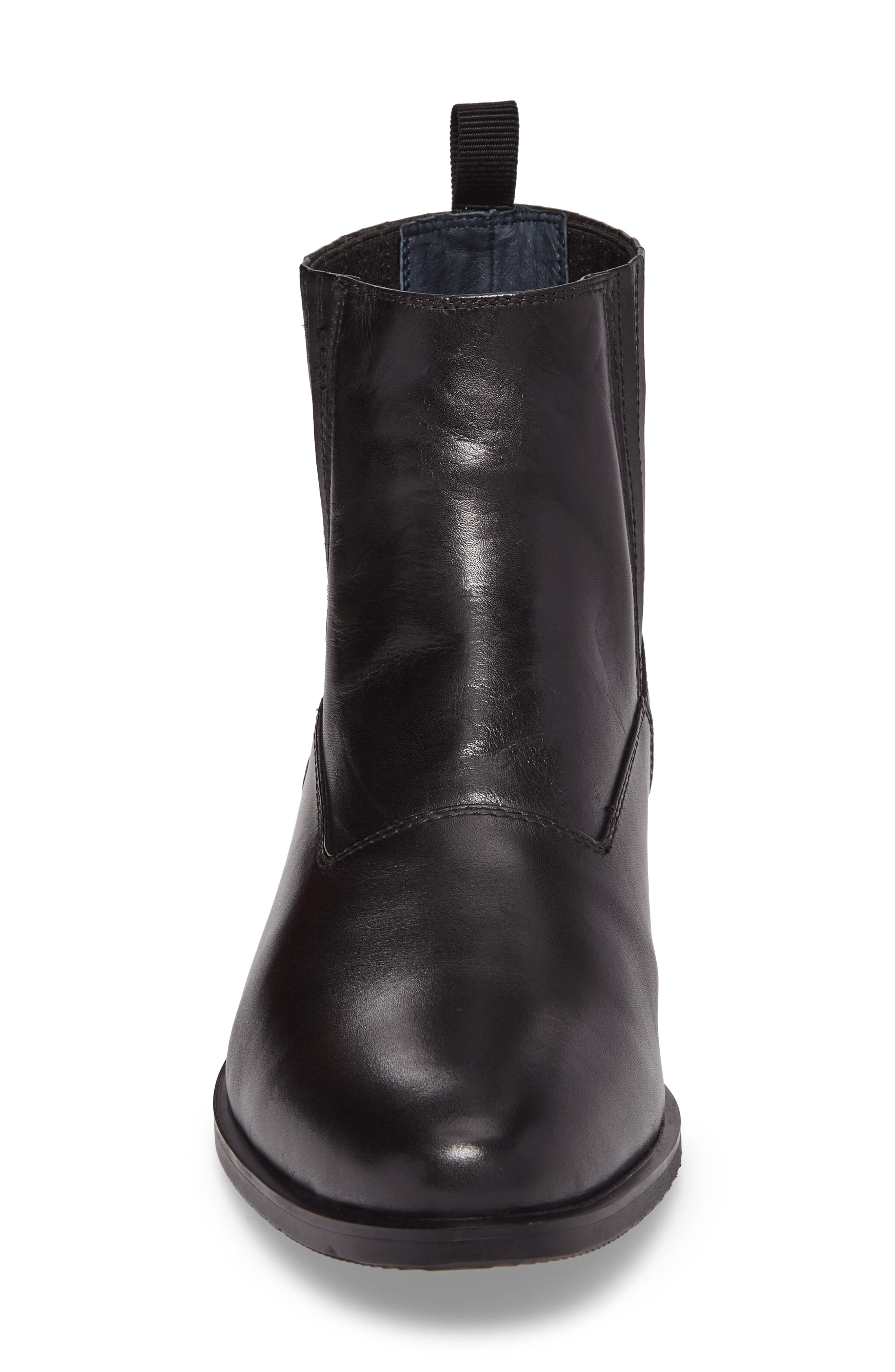 Guardi Zip Boot,                             Alternate thumbnail 4, color,                             Black Leather
