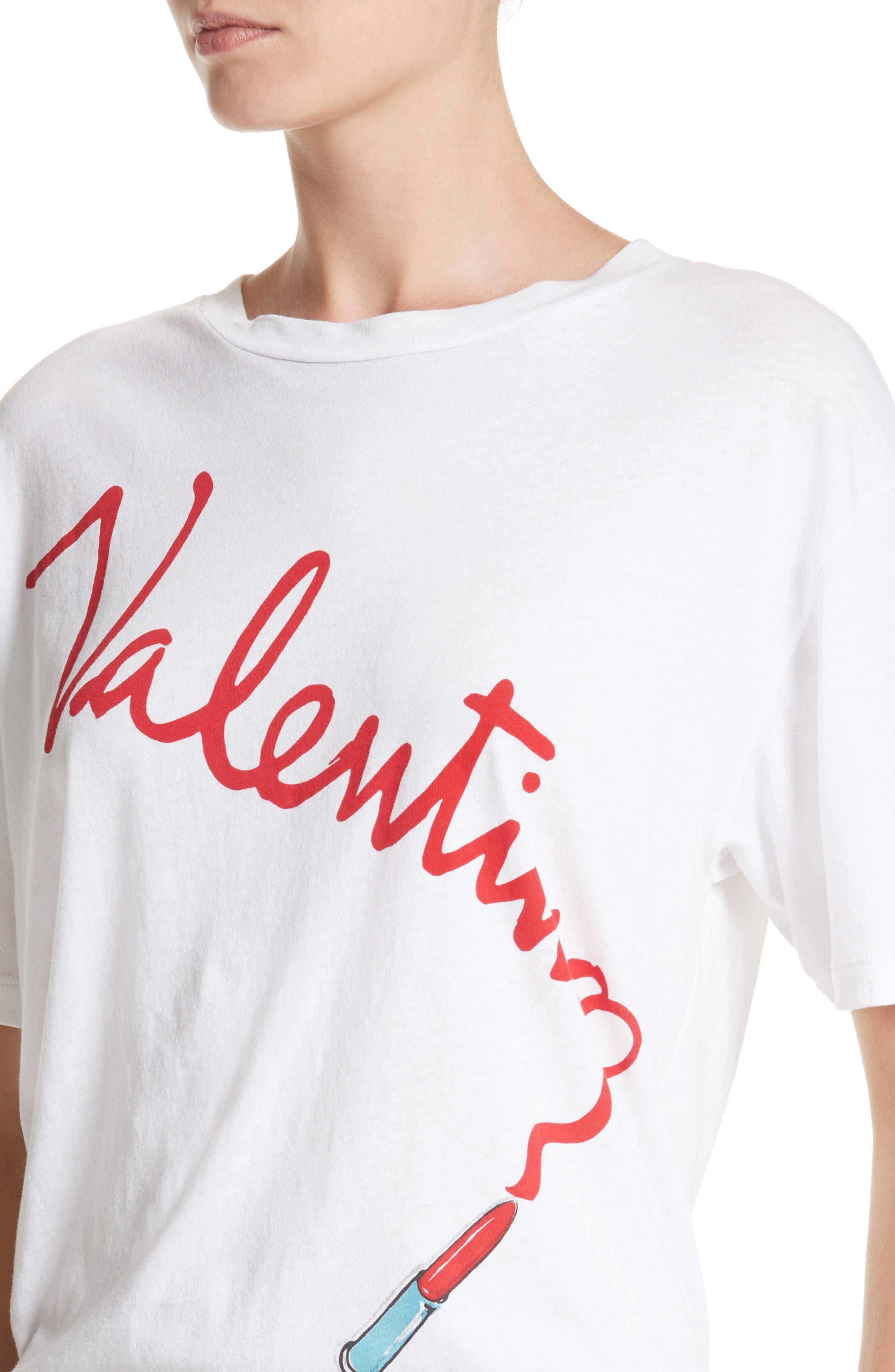 Alternate Image 4  - Valentino Lipstick Print Tee
