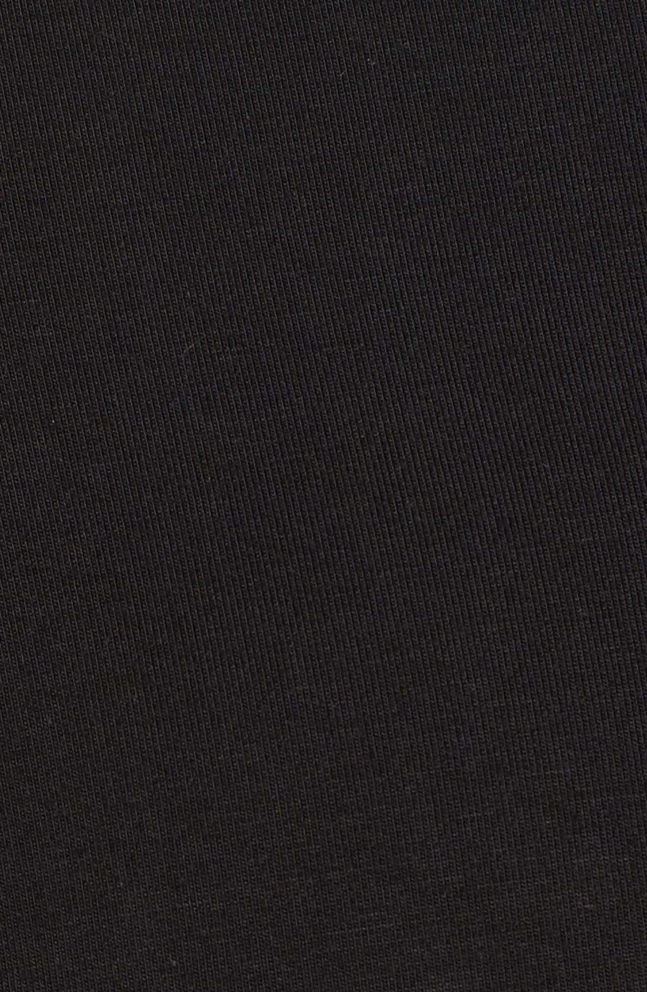 Tie Front Wide Leg Pants,                             Alternate thumbnail 5, color,                             Black