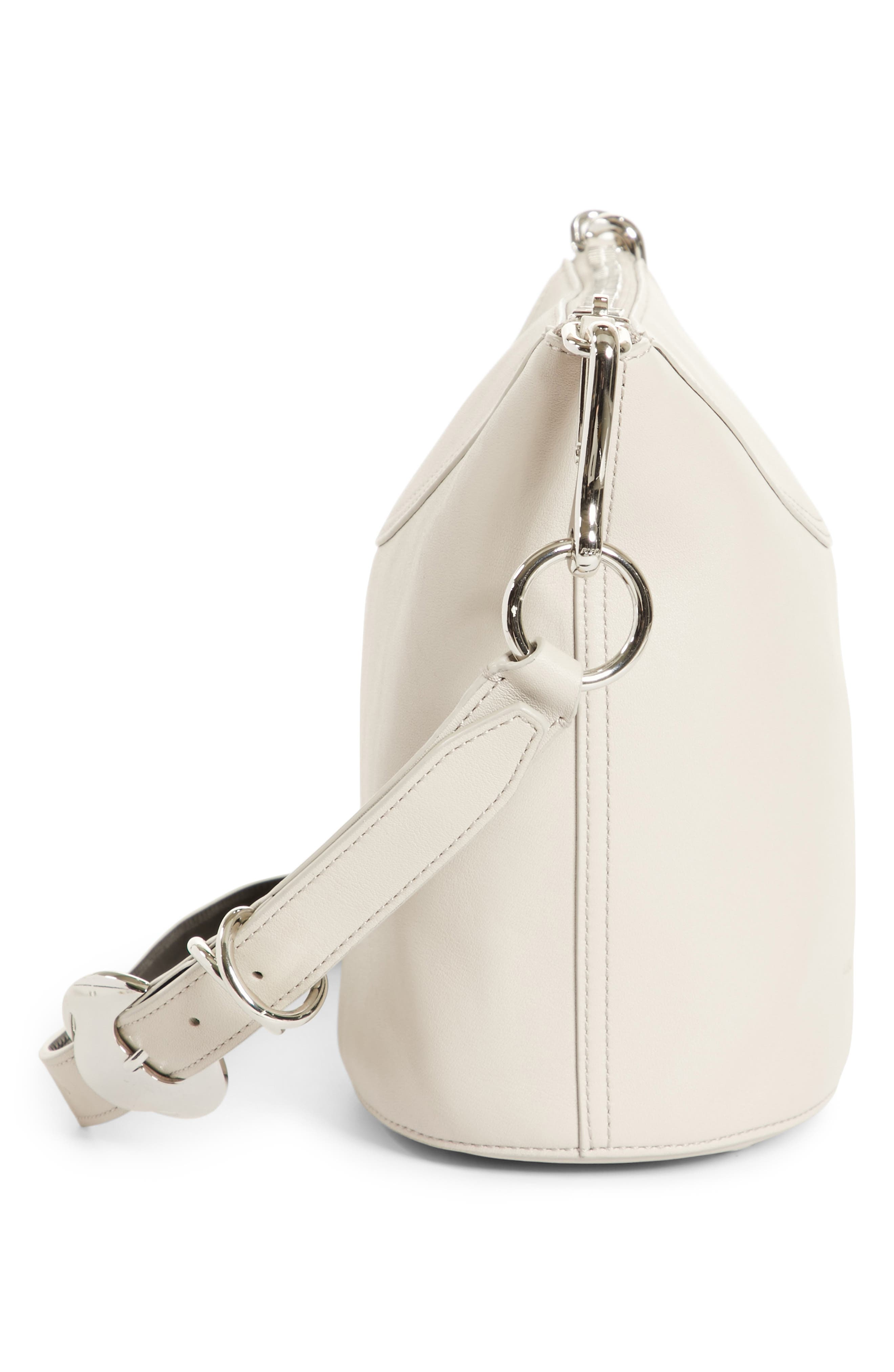 Ace Leather Bucket Bag,                             Alternate thumbnail 5, color,                             Smoke