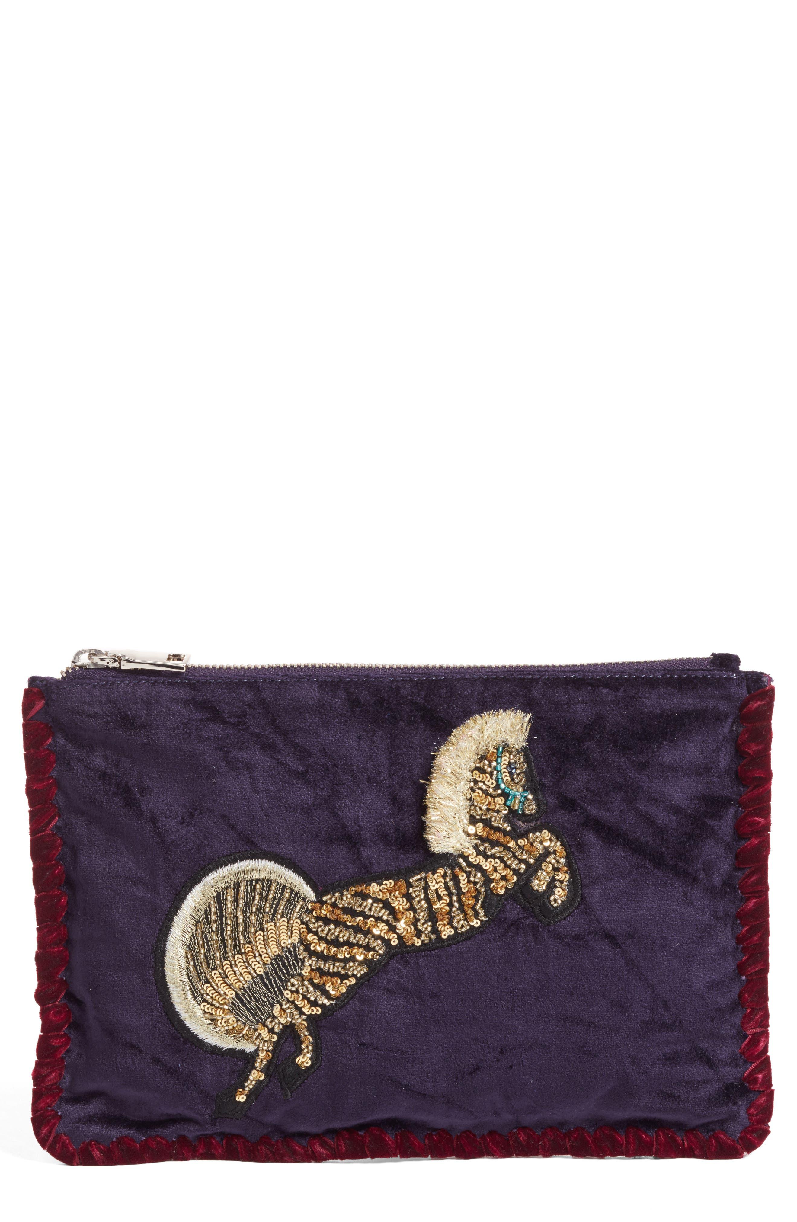 Embellished Clutch,                         Main,                         color, Purple