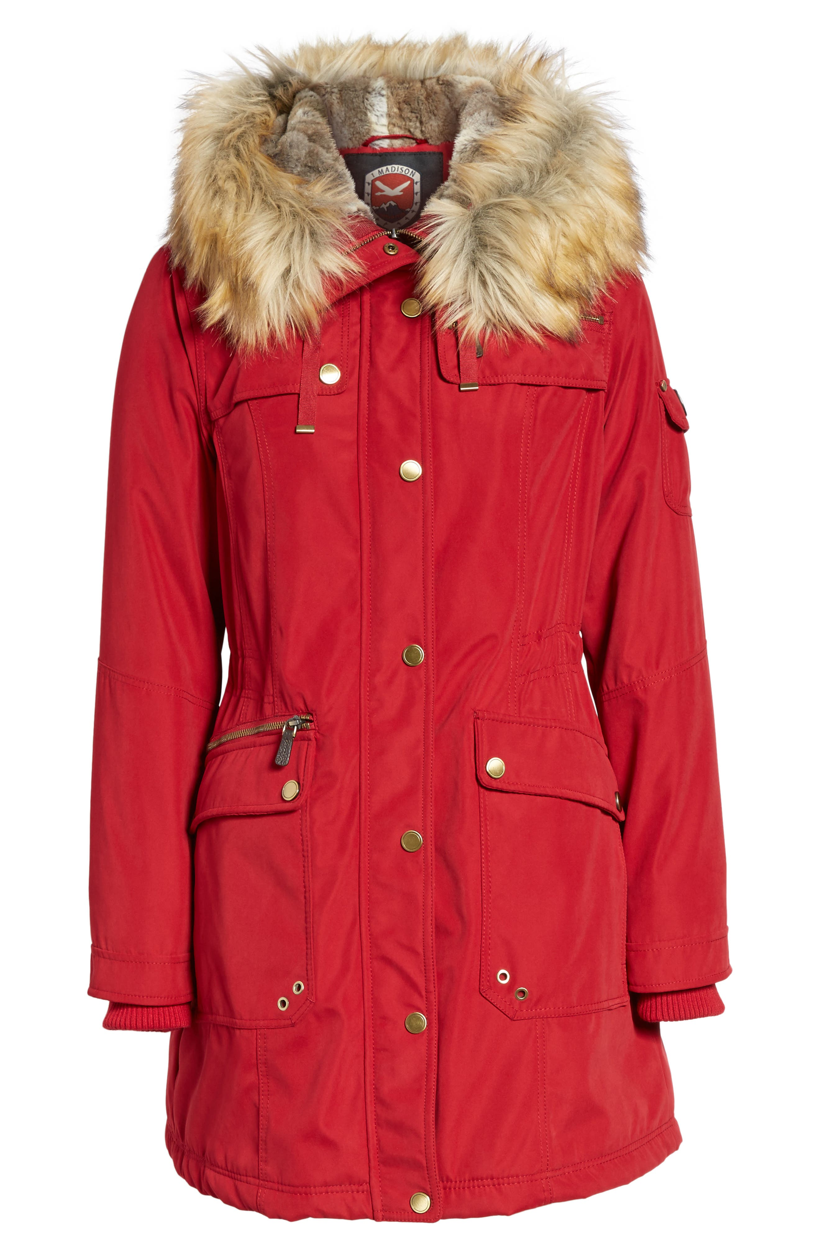 Alternate Image 6  - 1 Madison Anorak Parka with Faux Fur Trim