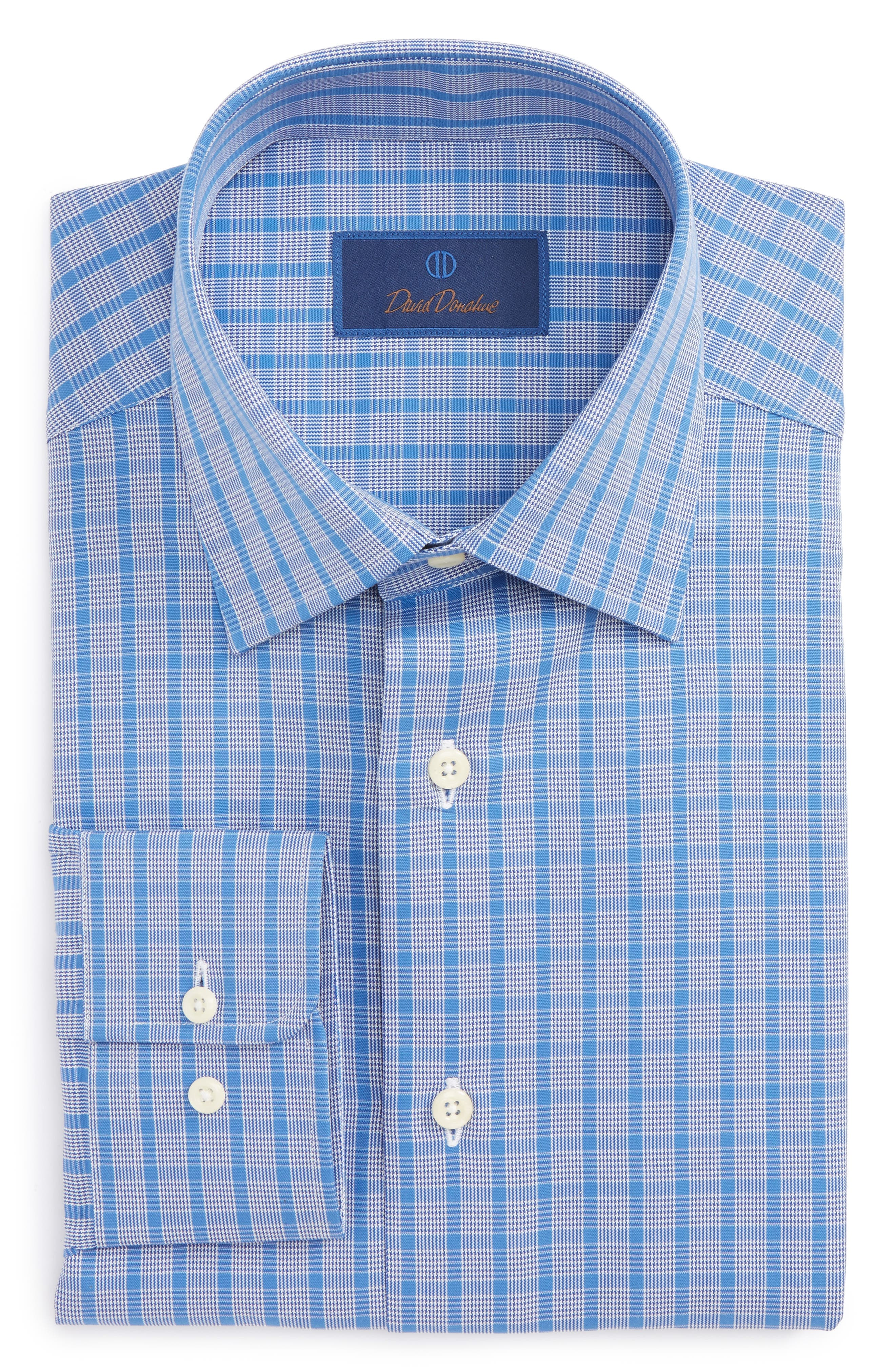 Regular Fit Plaid Dress Shirt,                         Main,                         color, Blue