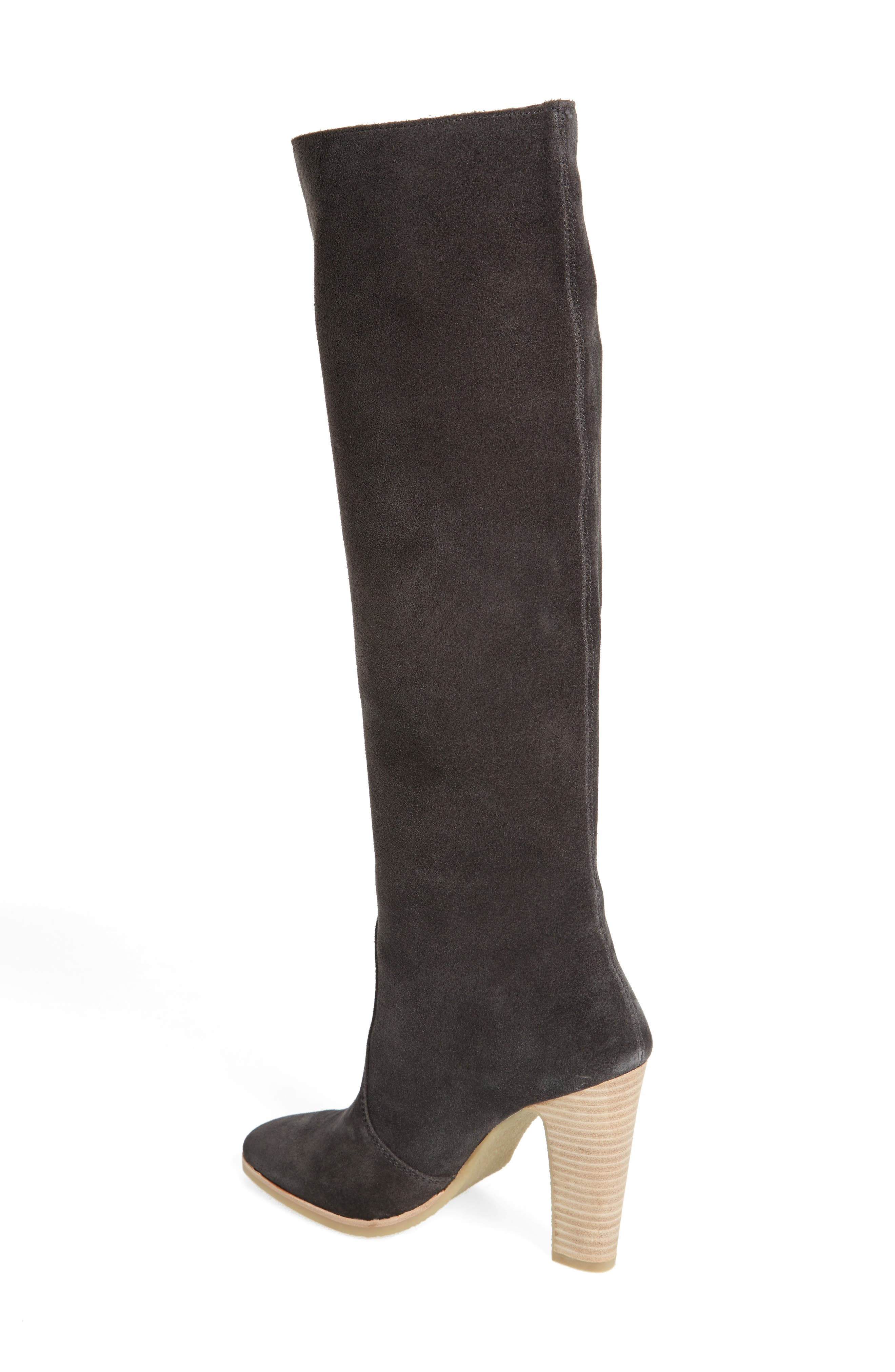 Celine Knee-High Boot,                             Alternate thumbnail 2, color,                             Anthracite Suede