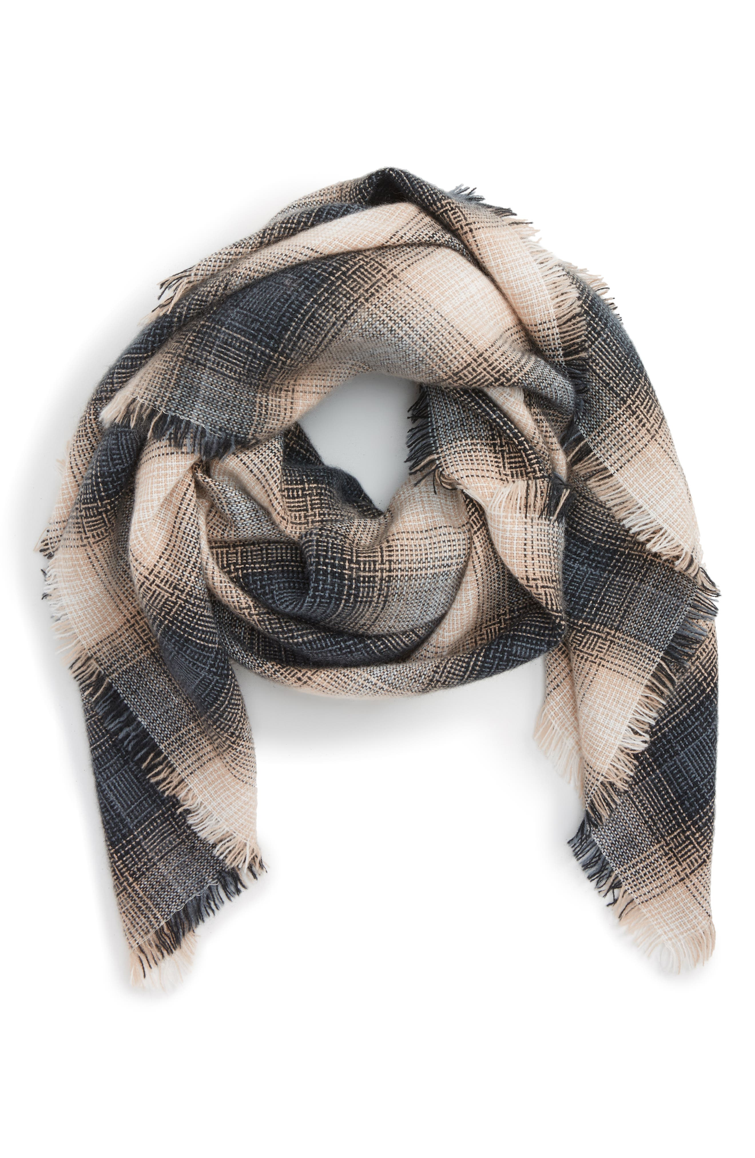 BP. Check Square Scarf