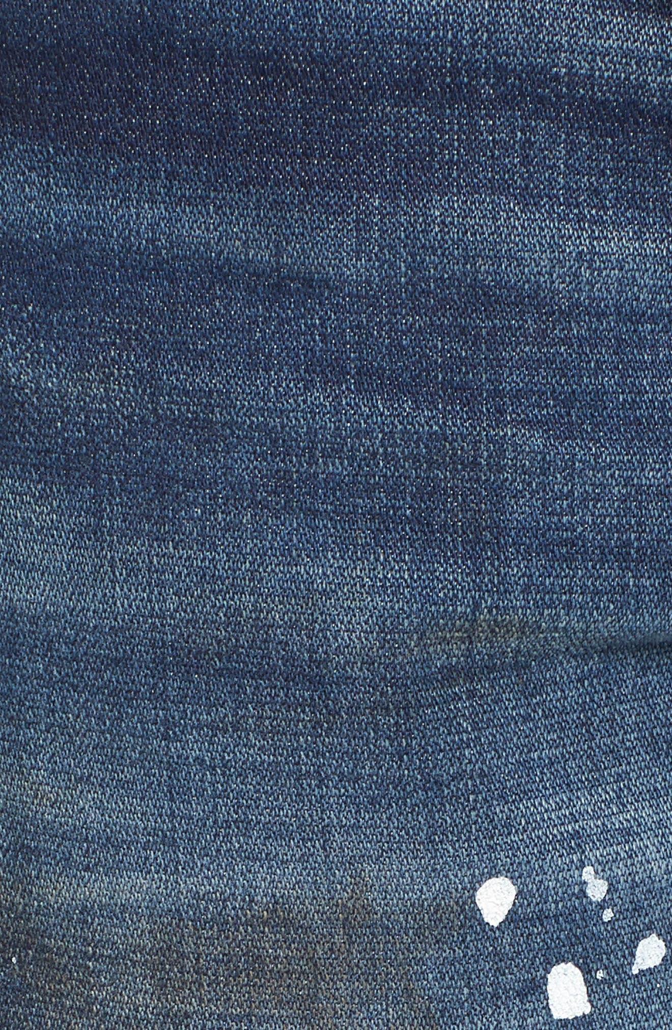 Geno Straight Leg Jeans,                             Alternate thumbnail 5, color,                             Fragment Shadow