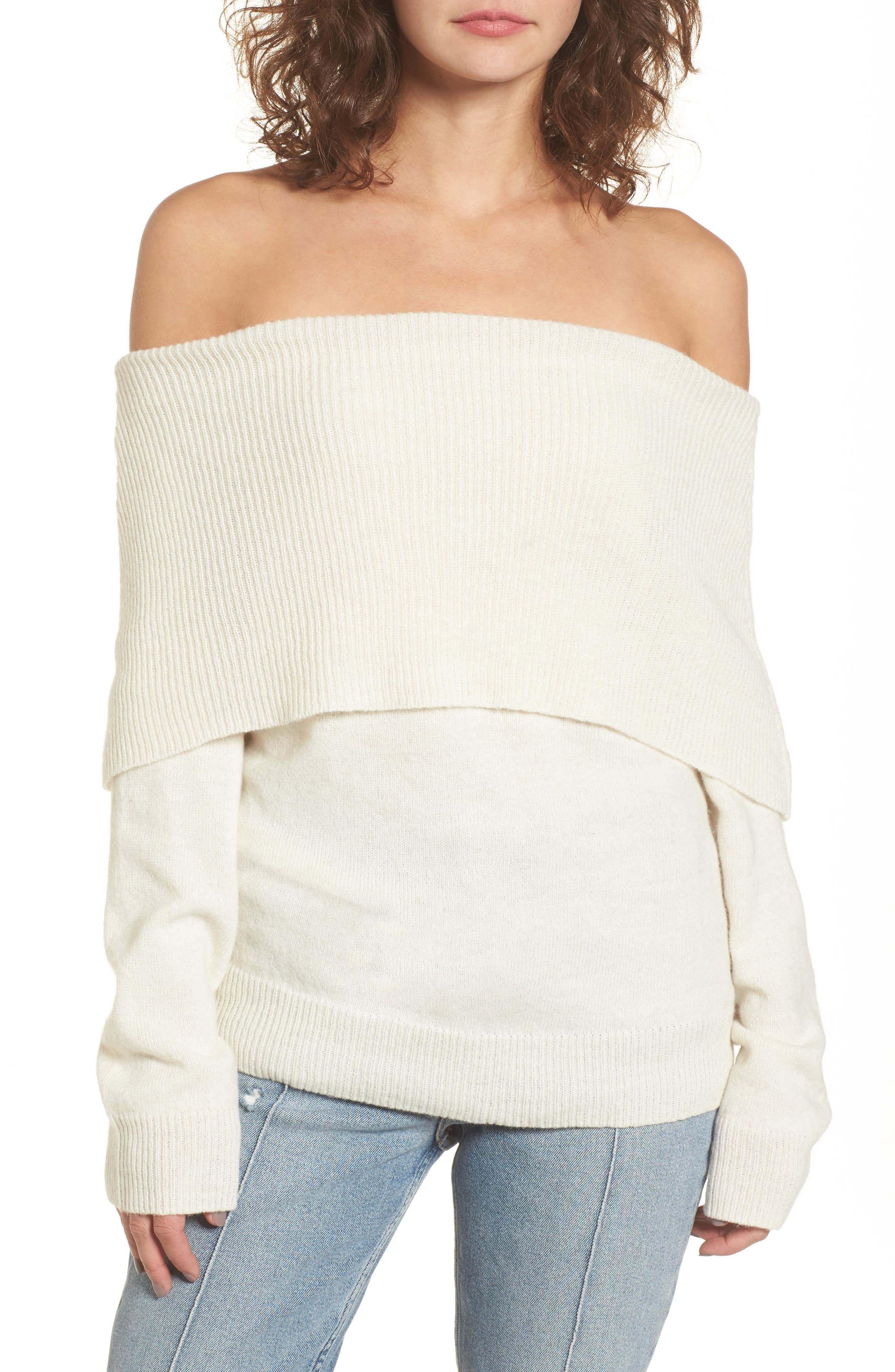 Main Image - Moon River Off the Shoulder Sweater